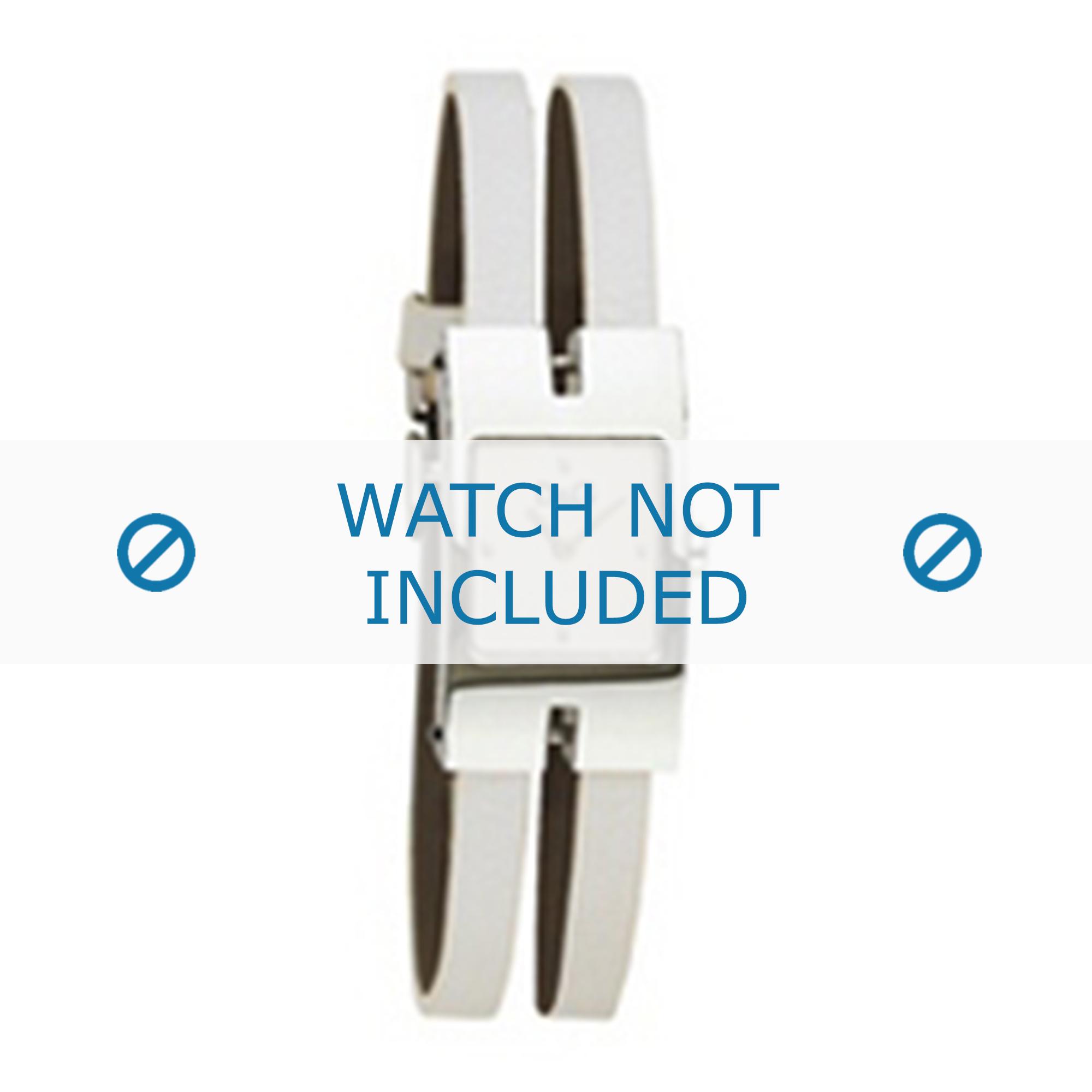 Dolce & Gabbana horlogeband 3719250562 Leder Wit 6mm