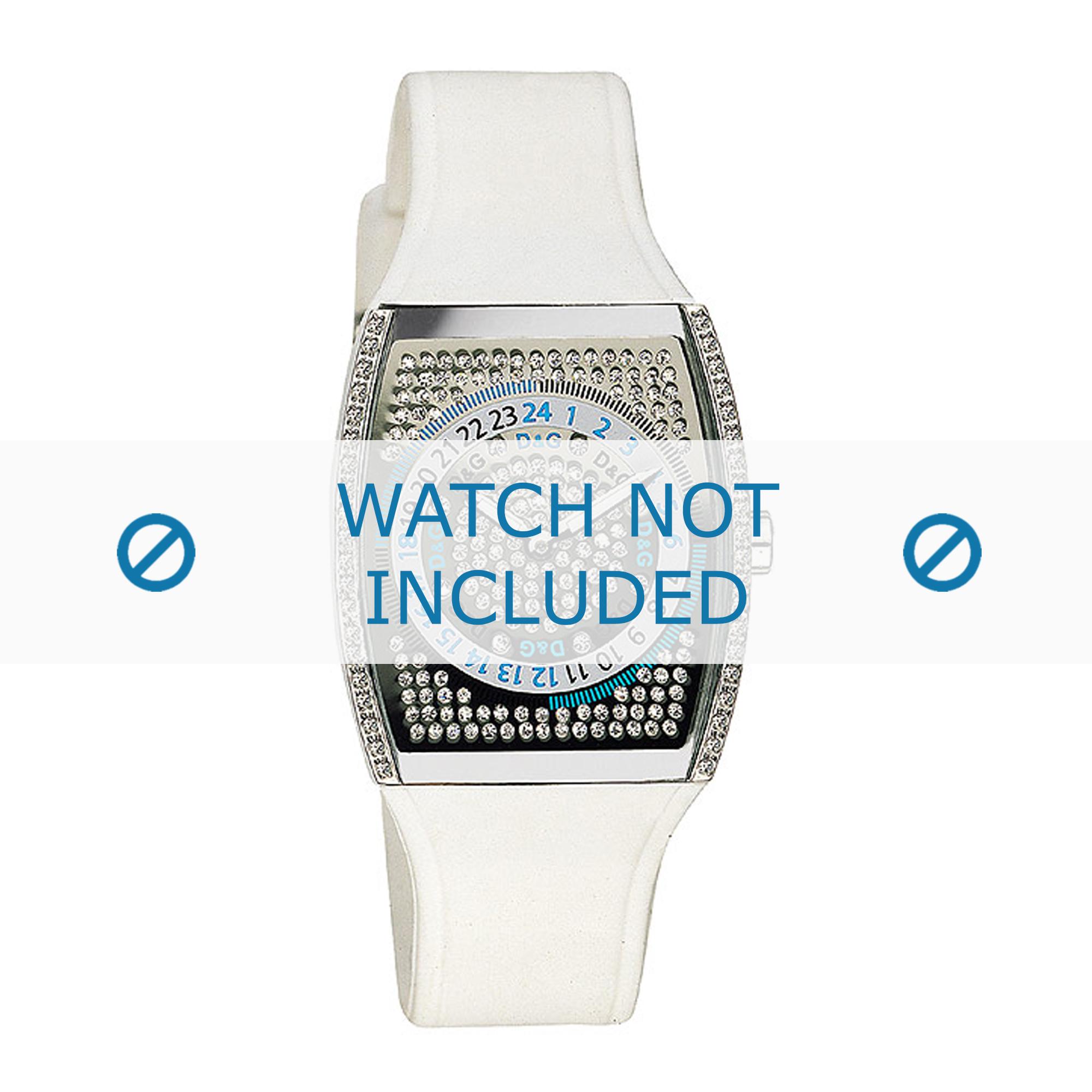 Dolce & Gabbana horlogeband DW0072 Rubber Wit