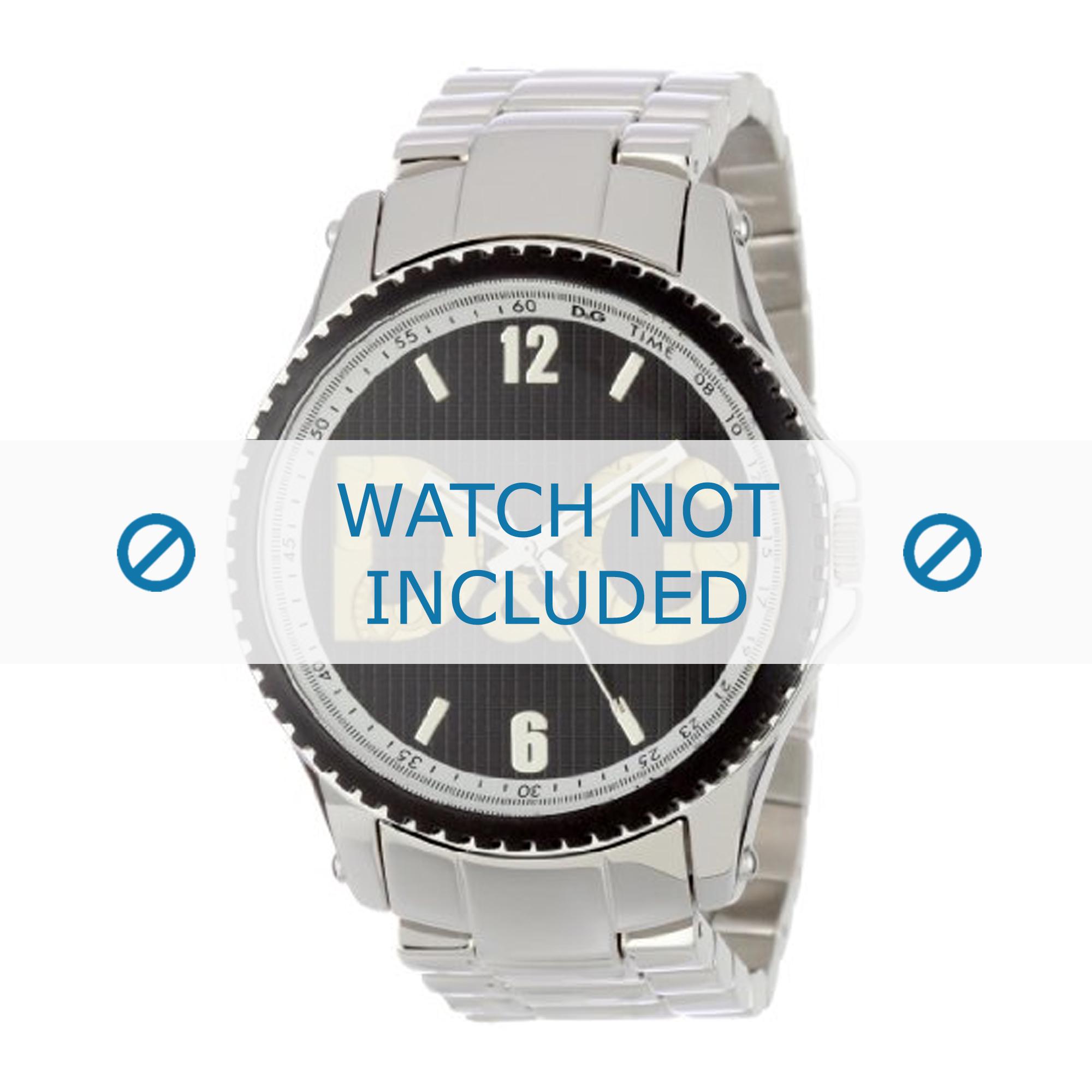 Dolce & Gabbana horlogeband DW0703 Staal Zilver 22mm