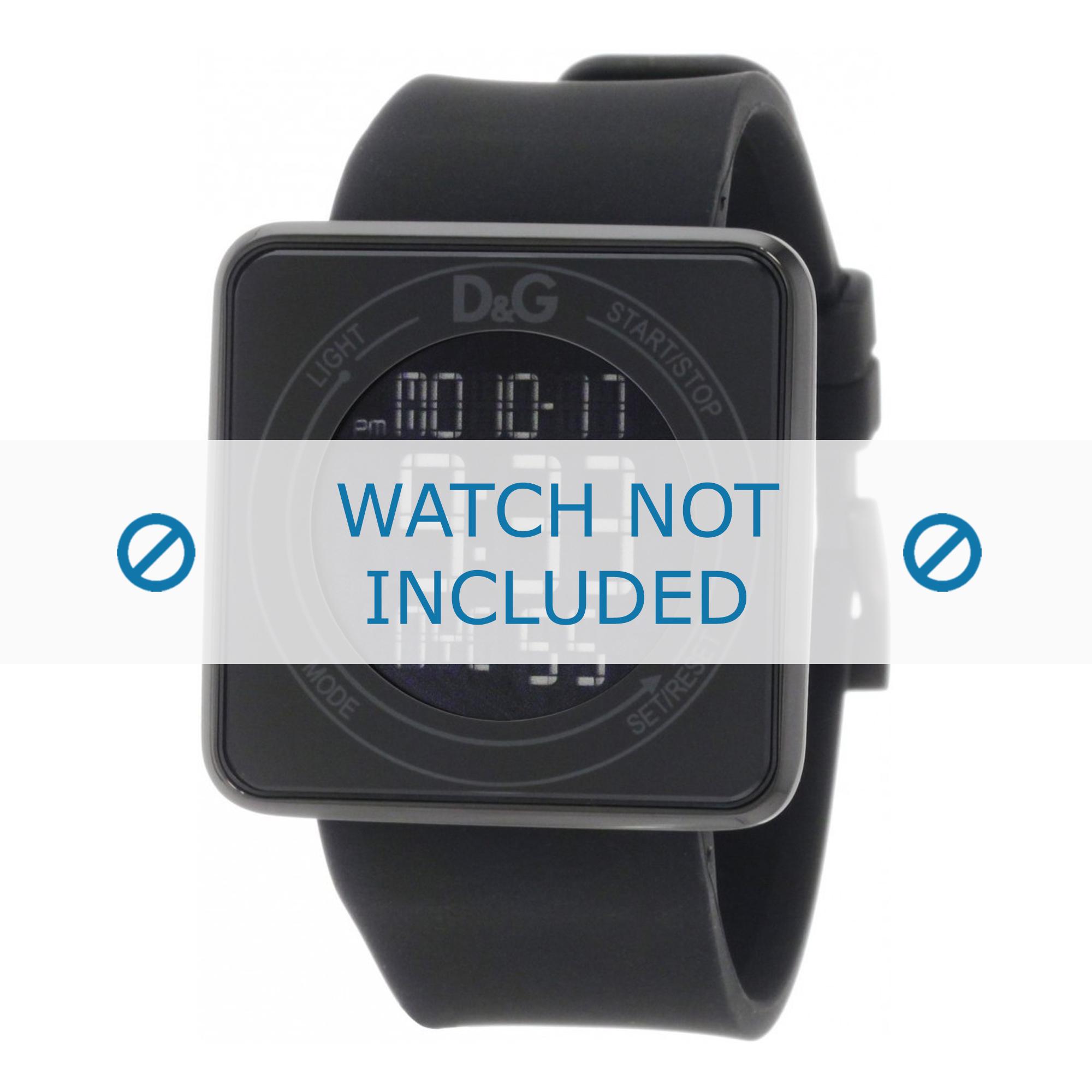 Dolce & Gabbana horlogeband DW0734 Rubber Zwart 28mm