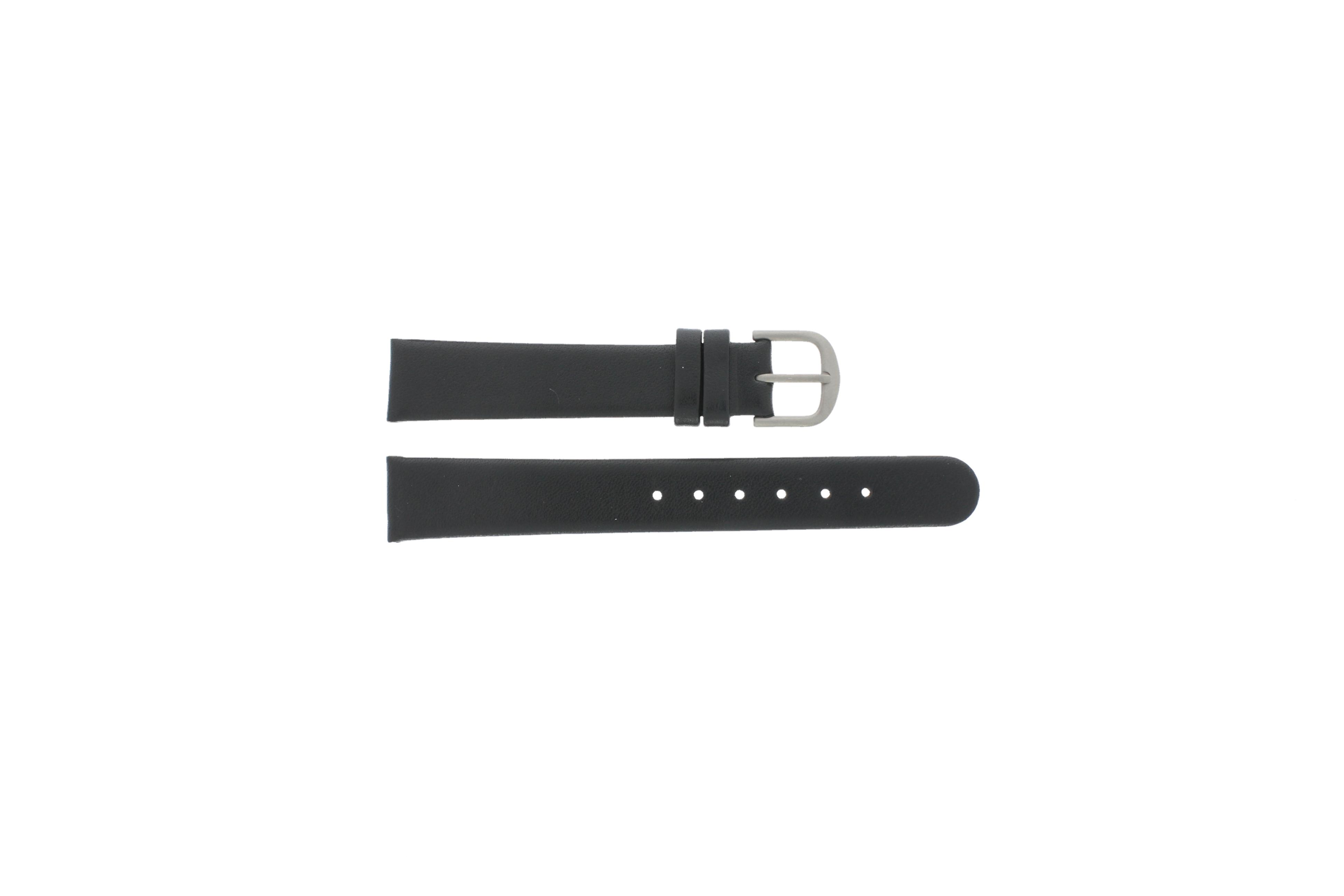 Danish Design horlogeband ADDBLXL14 Leder Zwart 14mm