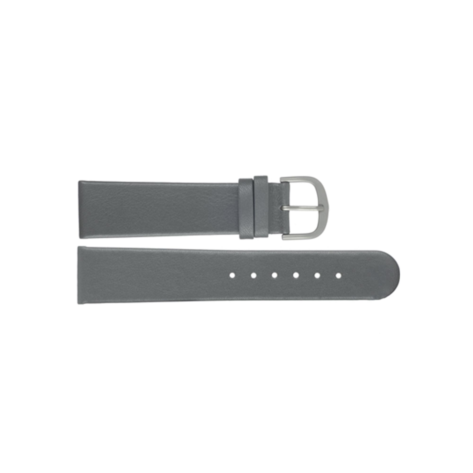 Danish Design horlogeband ADDGR22 Leder Grijs 22mm