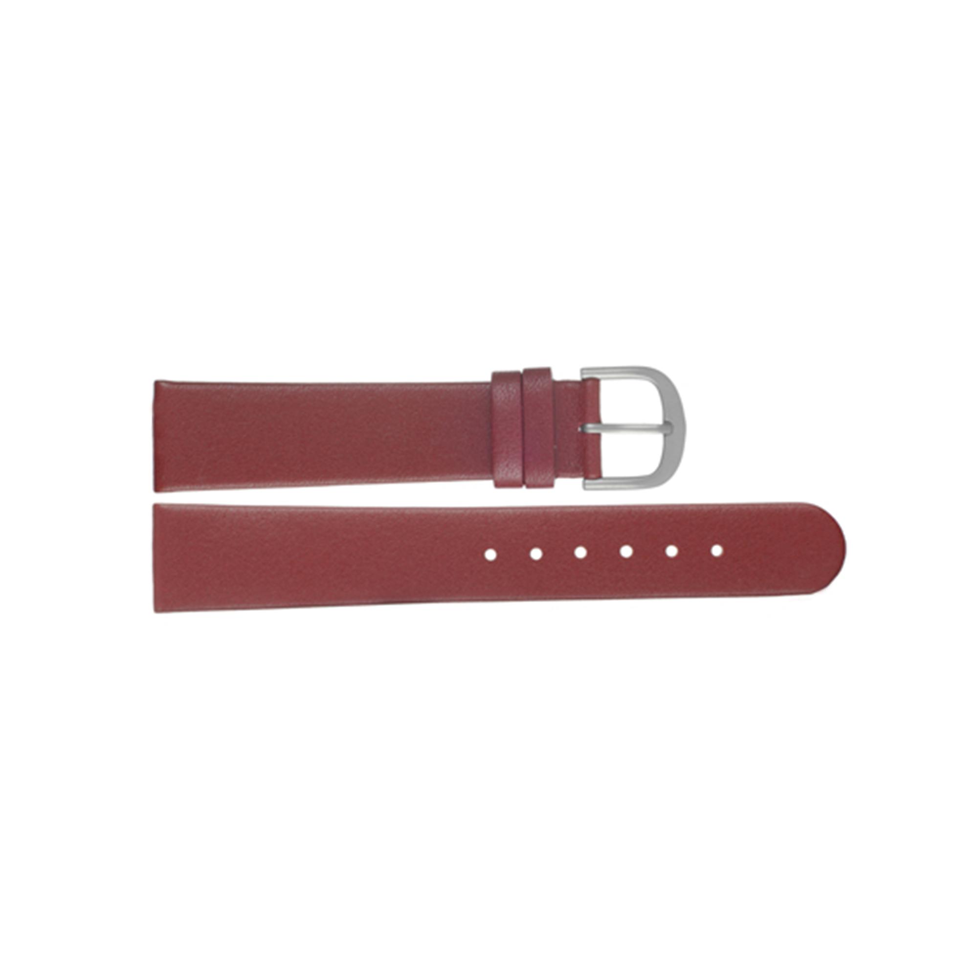 Danish Design horlogeband ADDRD18 Leder Rood 18mm