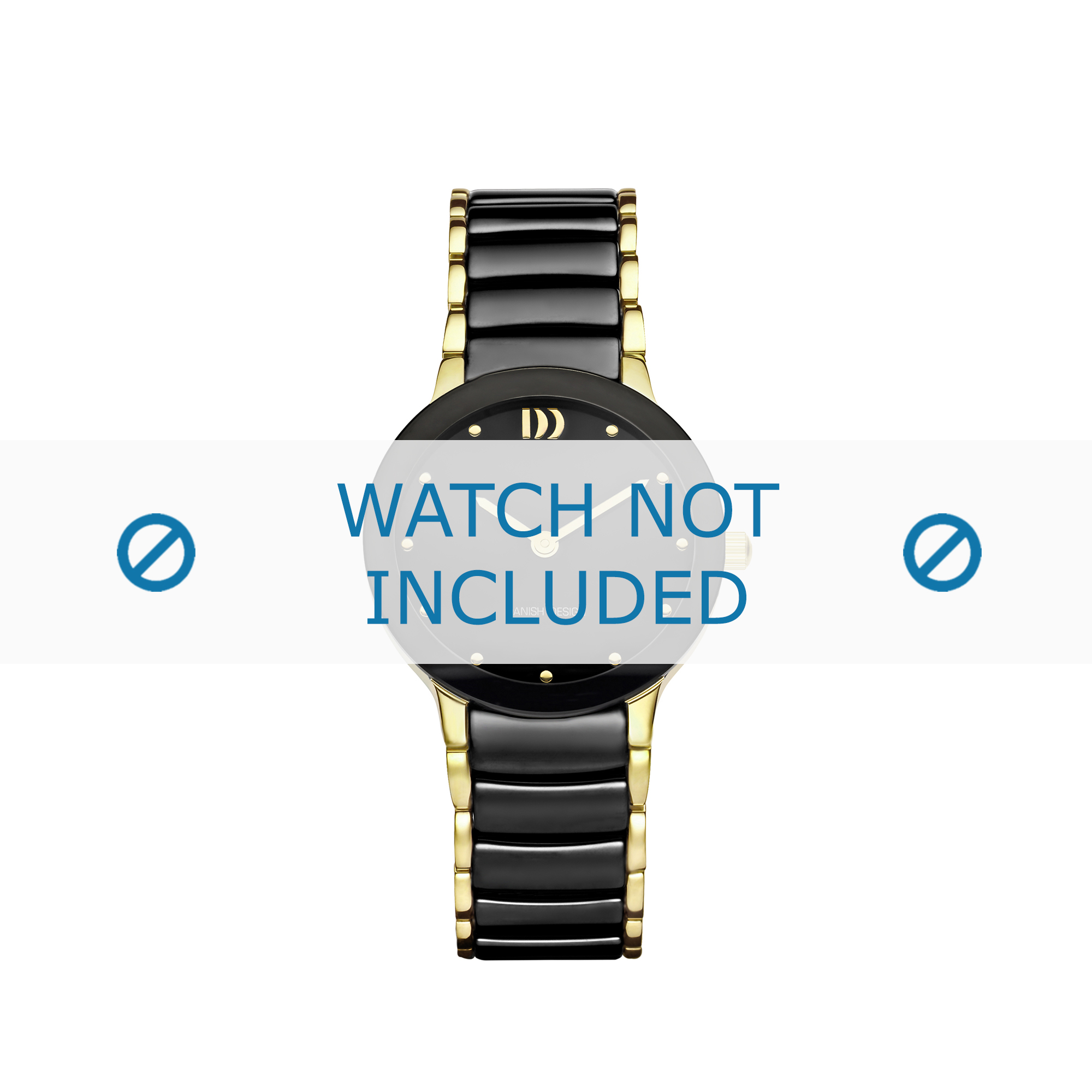 Danish Design horlogeband IV05Q1065 Keramiek Zwart 16mm