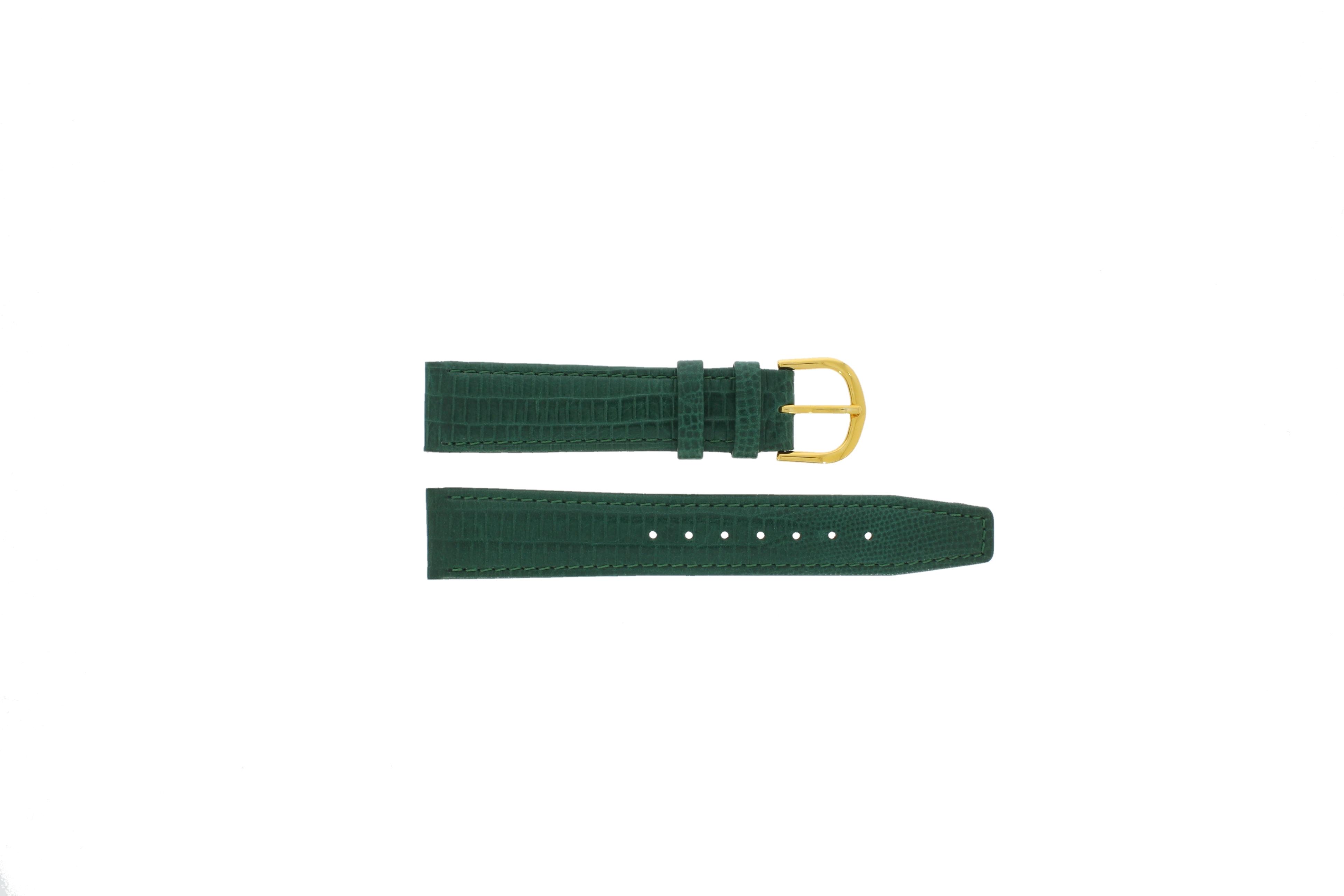 Davis horlogeband B0085 Leder Groen 18mm