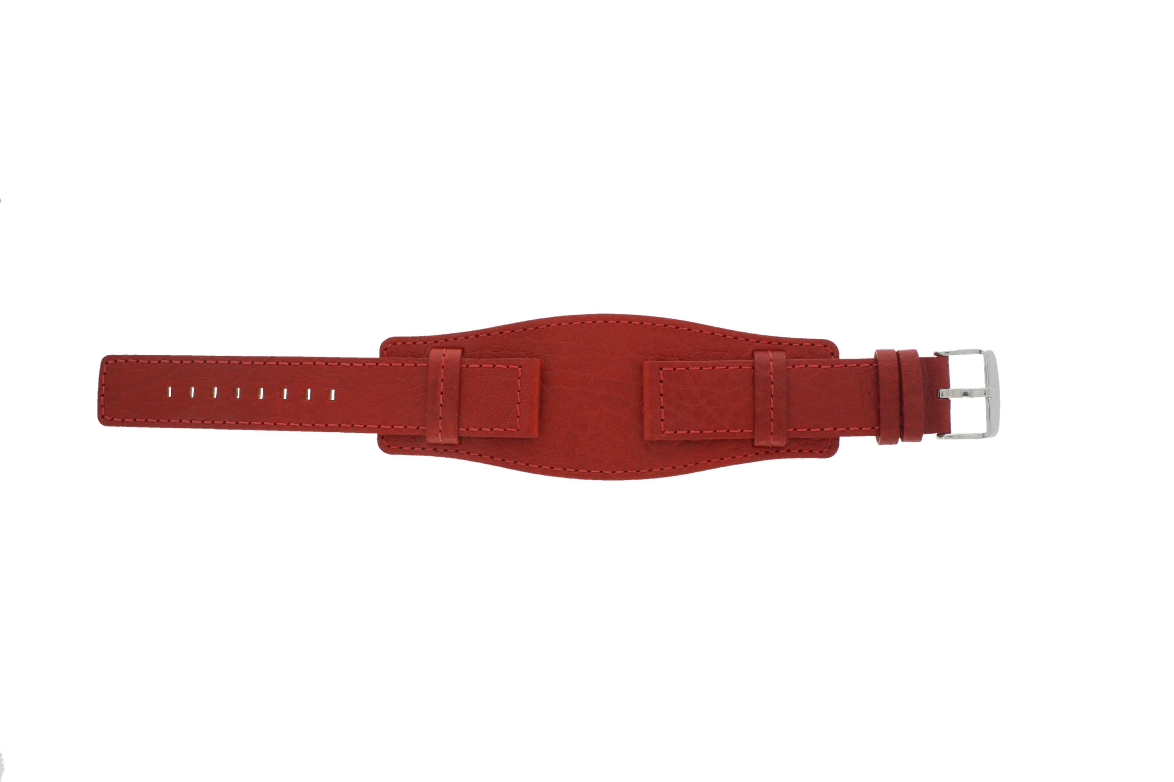 Davis horlogeband B0223 Leder Rood 20mm