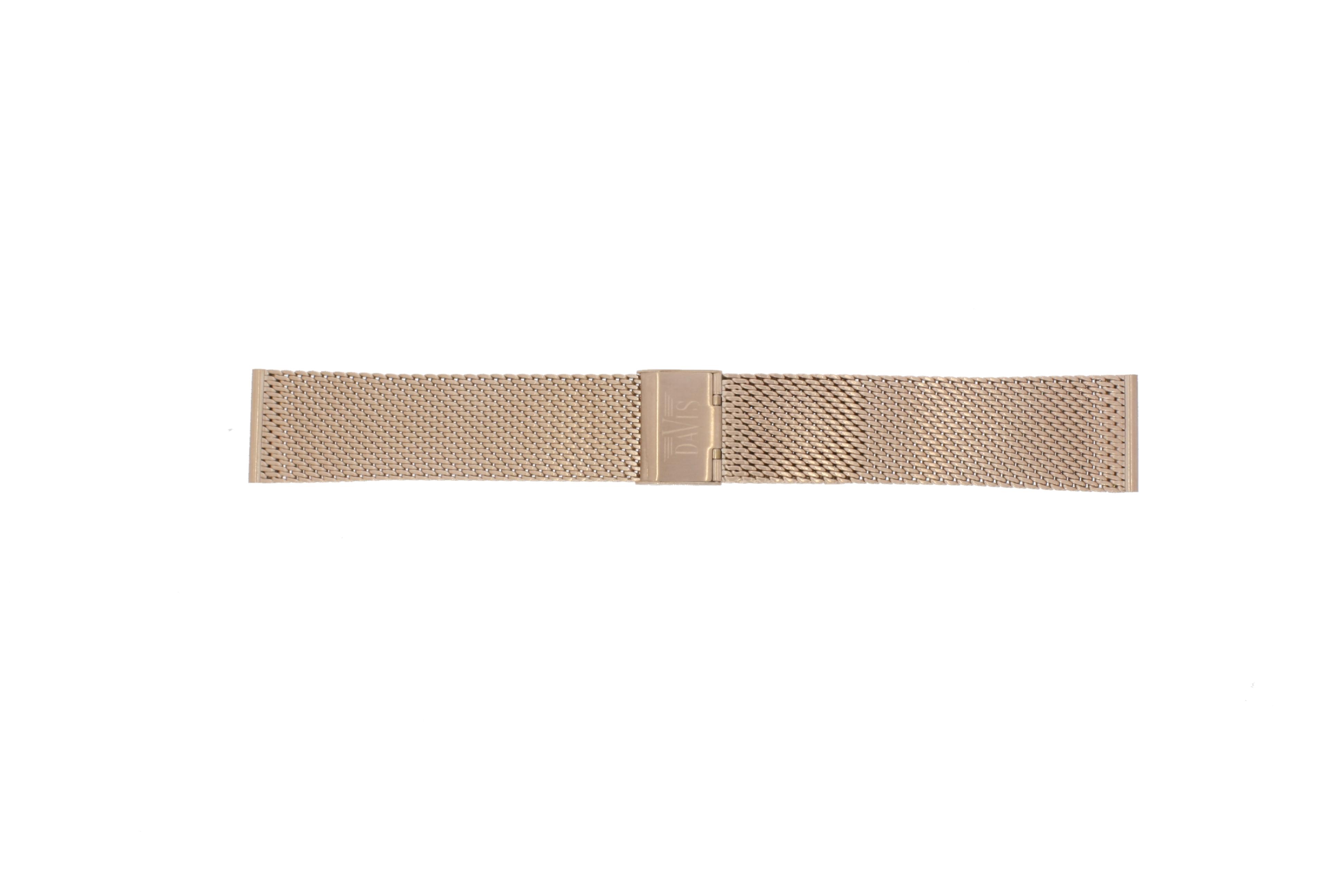 Davis horlogeband BB0813 Staal Rosé 22mm