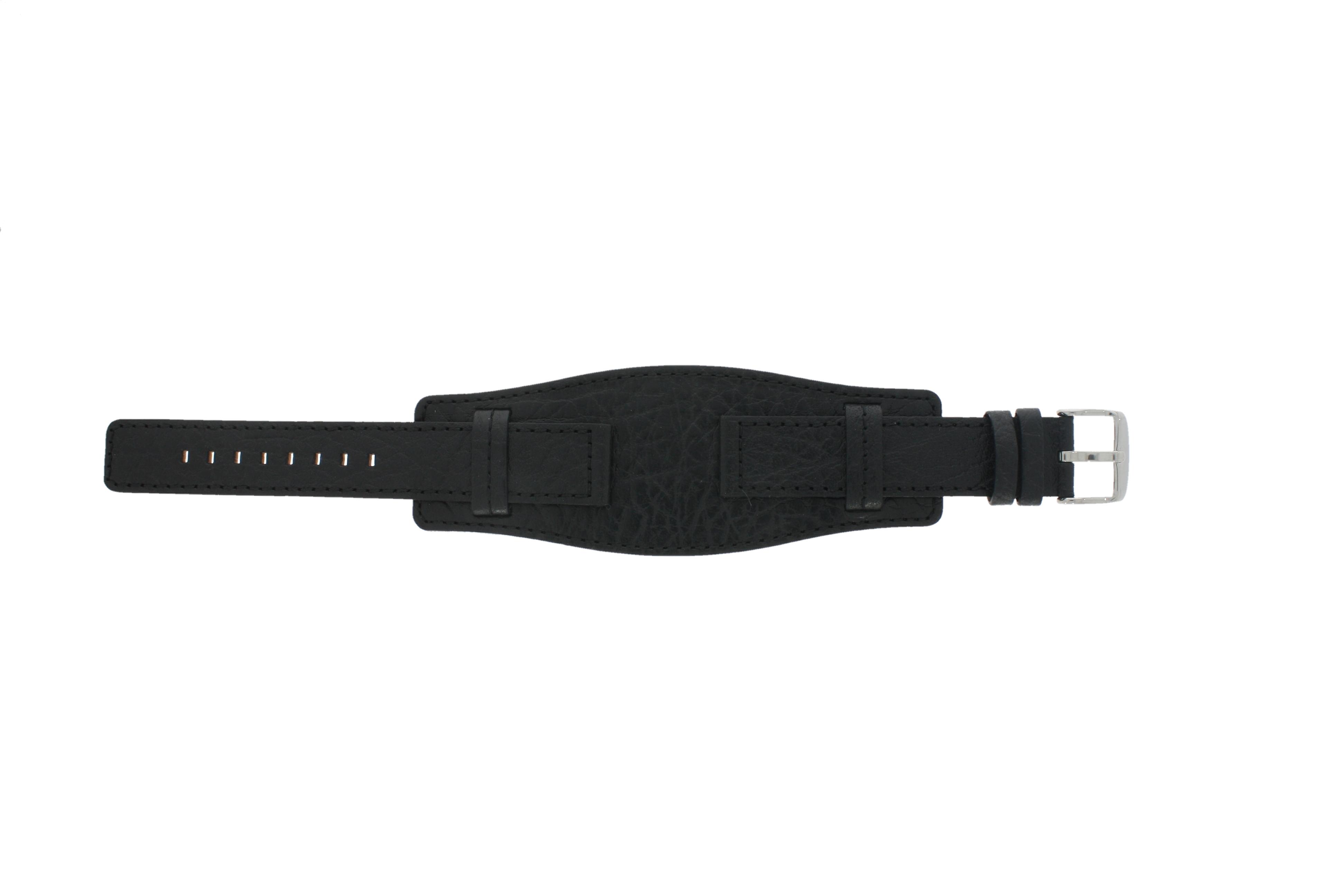Davis horlogeband B0220 Leder Zwart 18mm