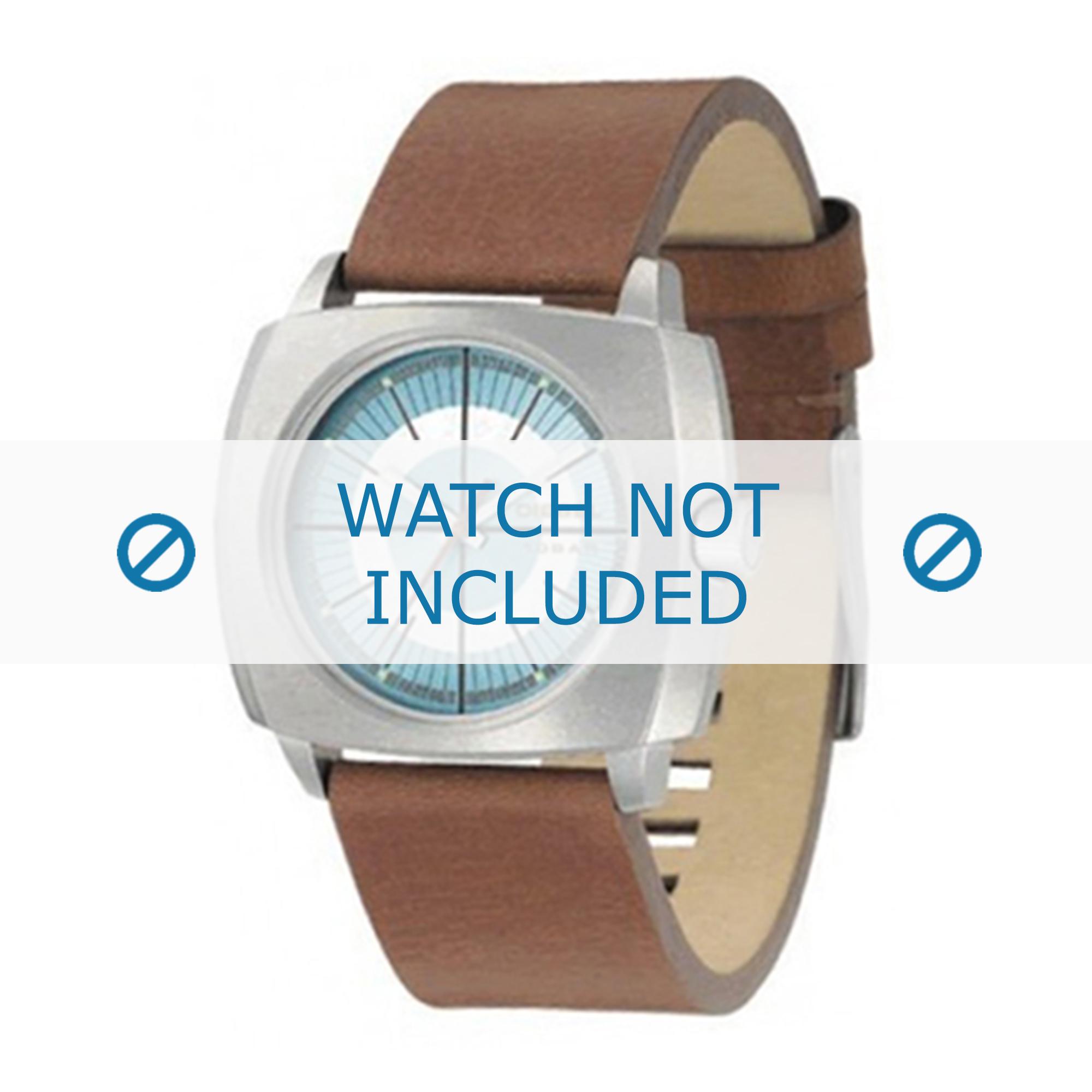 Diesel horlogeband DZ1075 Leder Cognac 24mm