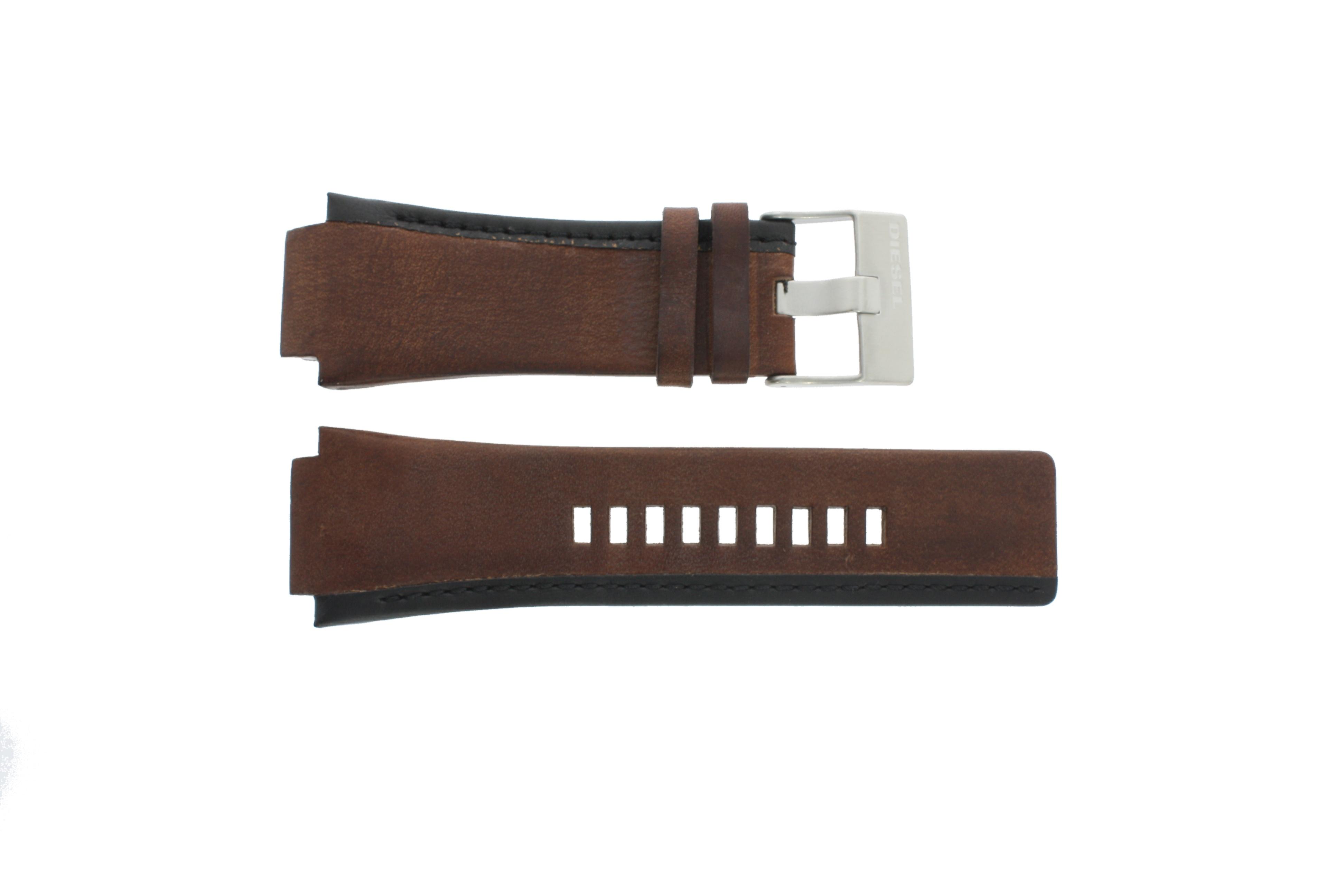 Diesel horlogeband DZ-1092 Leder Bruin 22mm
