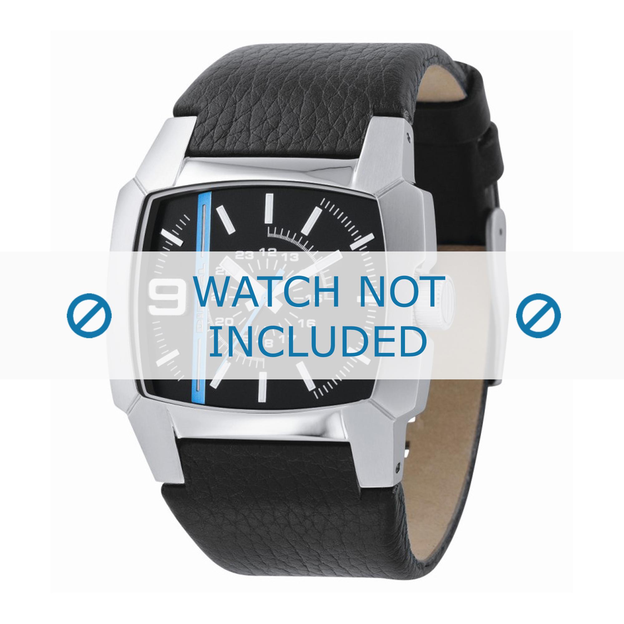 Diesel horlogeband DZ1131 Leder Zwart 33mm