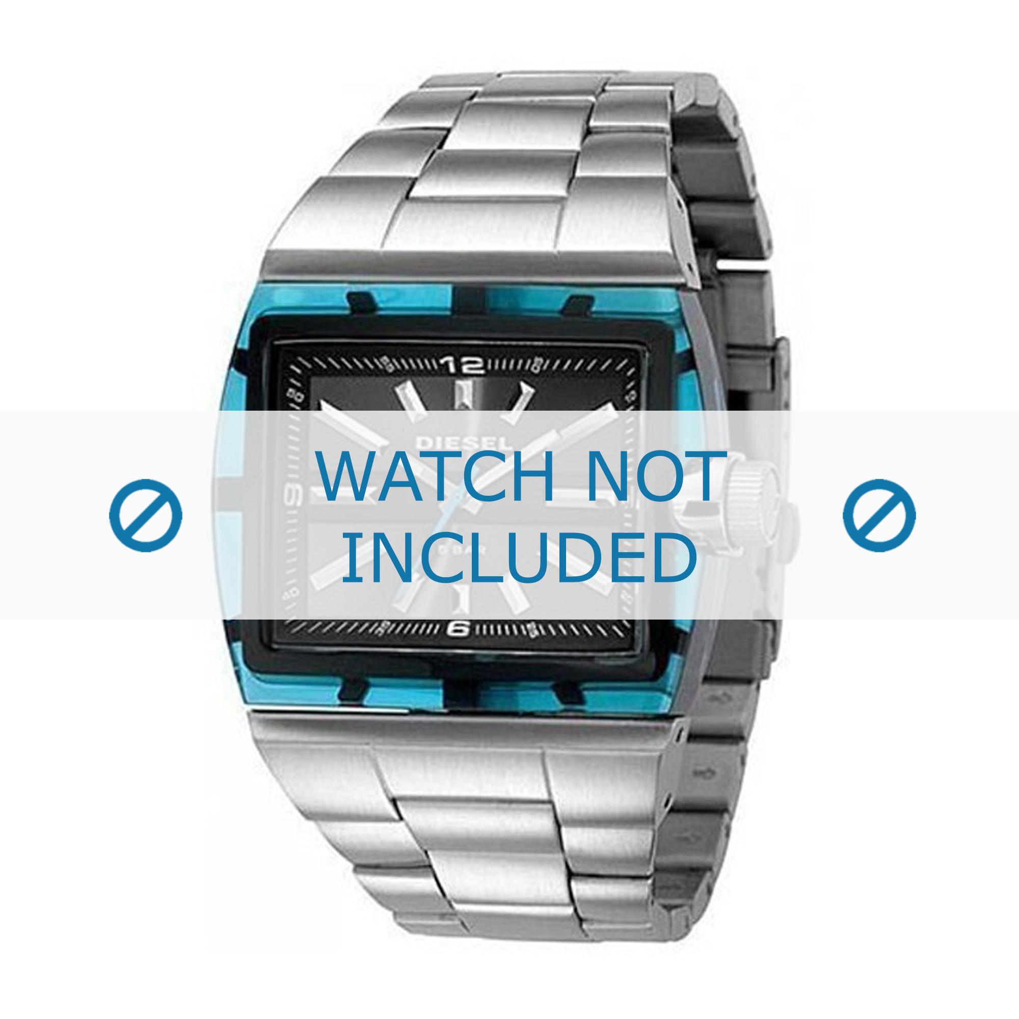 Diesel horlogeband DZ1345 Roestvrij staal (RVS) Zilver 38mm
