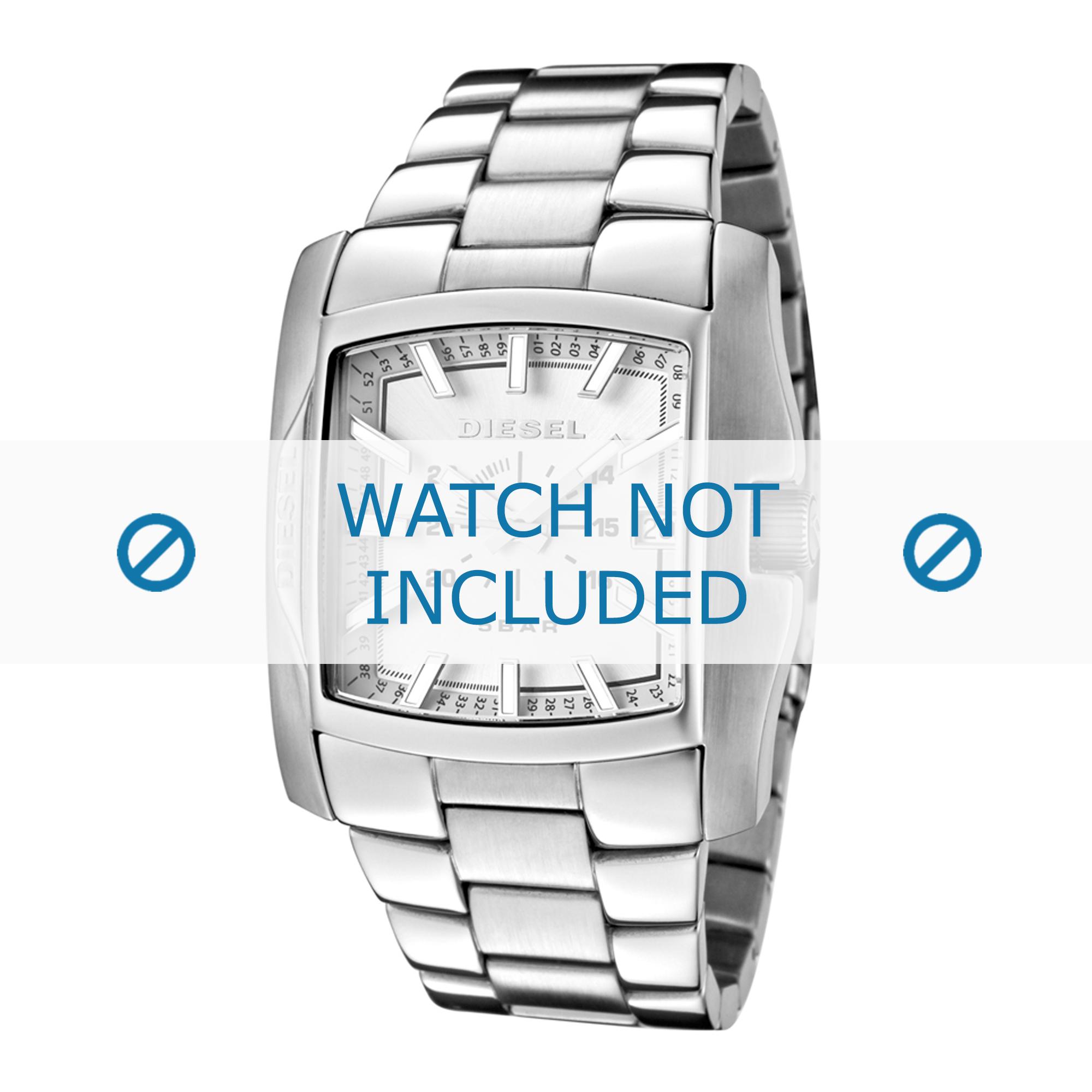 Diesel horlogeband DZ1379 Roestvrij staal (RVS) Zilver 29mm