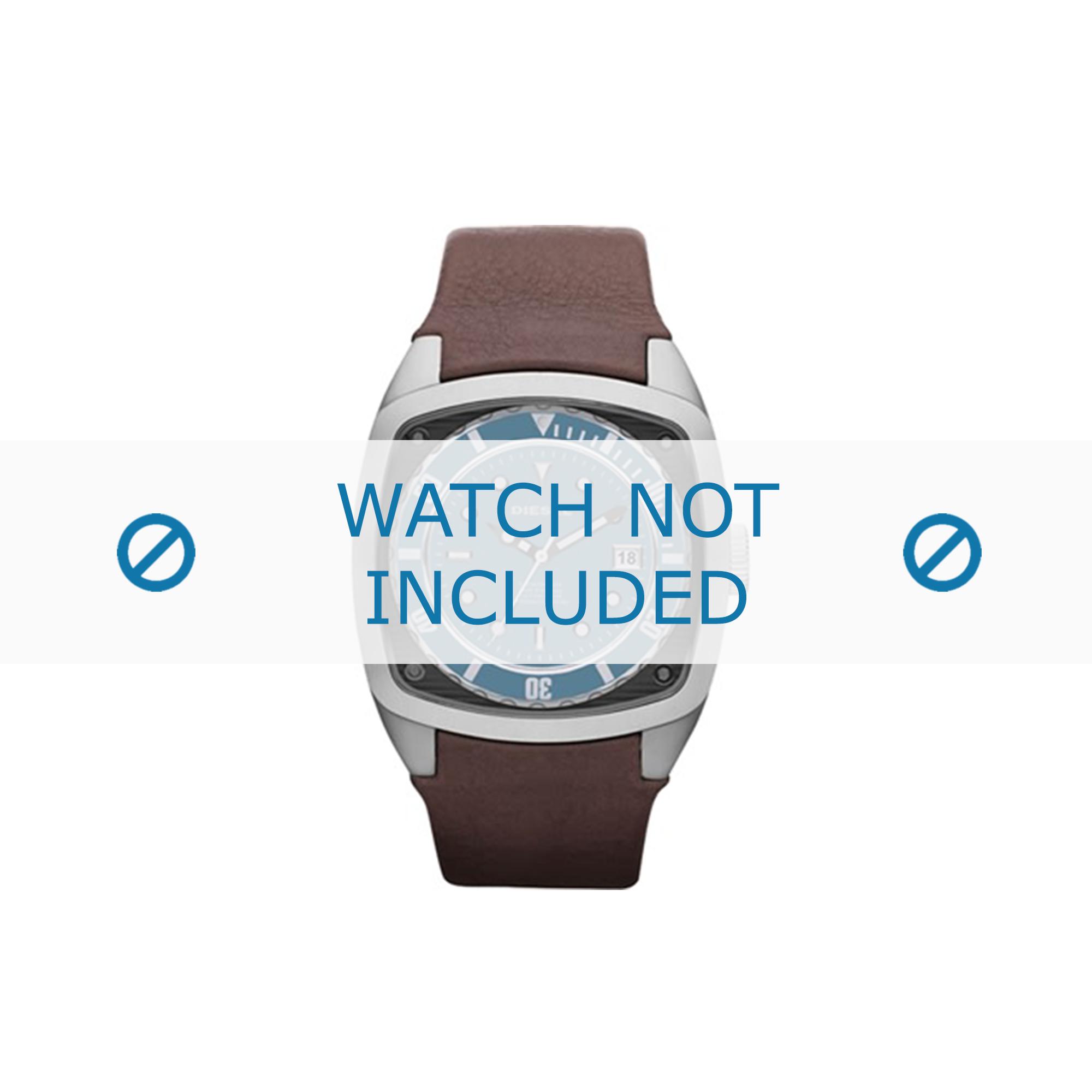 Diesel horlogeband DZ1491 Leder Bruin 24mm