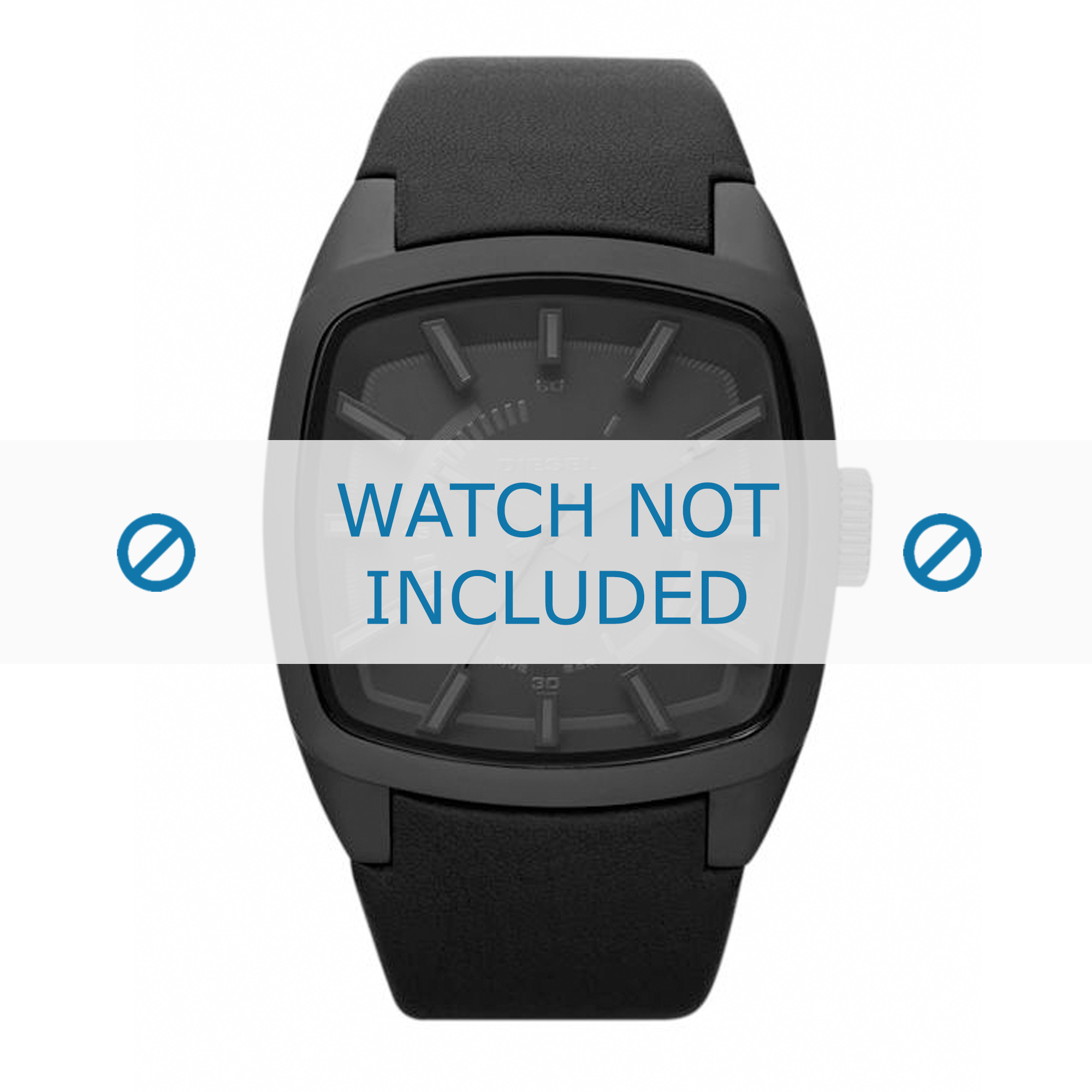 Diesel horlogeband DZ1529 Leder Zwart 22mm