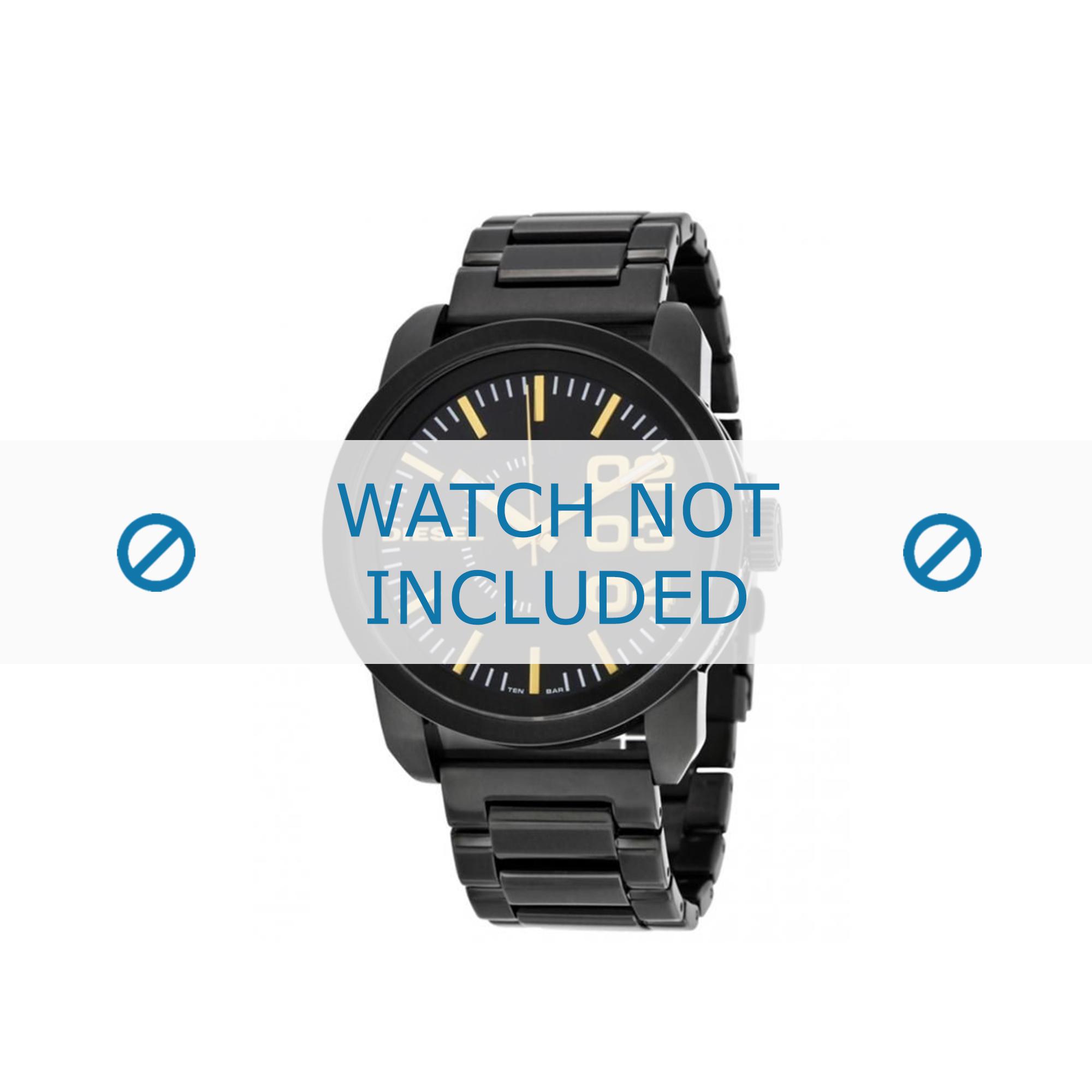 Diesel horlogeband DZ1566 Roestvrij staal (RVS) Zwart 24mm