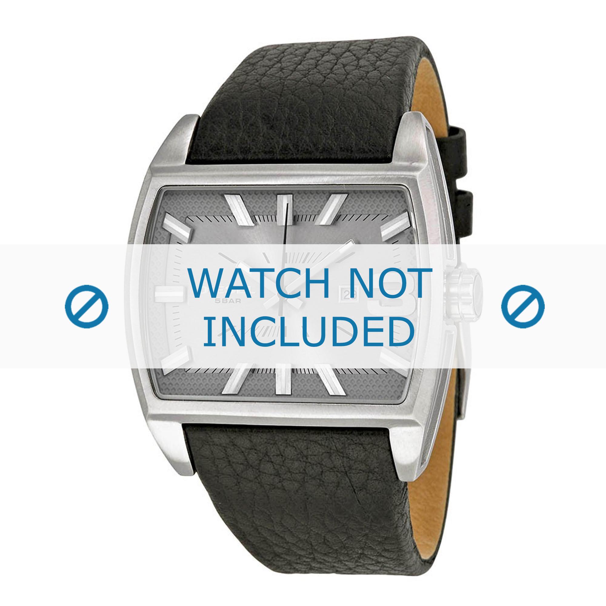 Diesel horlogeband DZ1674 Leder Zwart 30mm