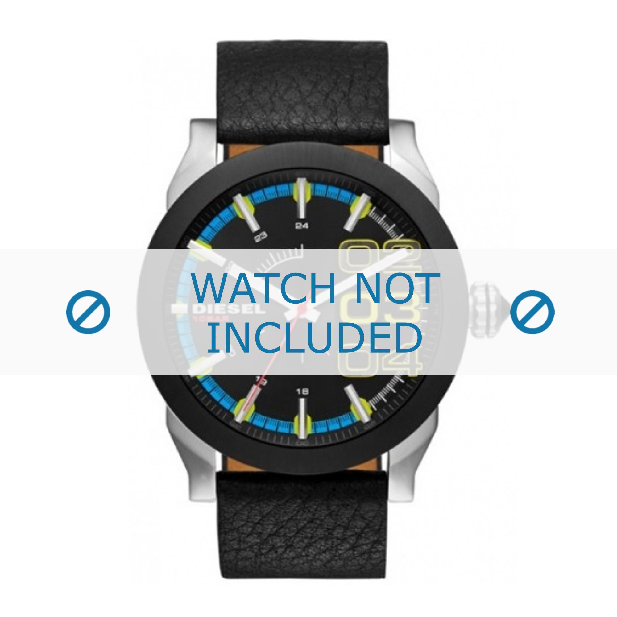 Diesel horlogeband DZ1677 Leder Zwart 24mm