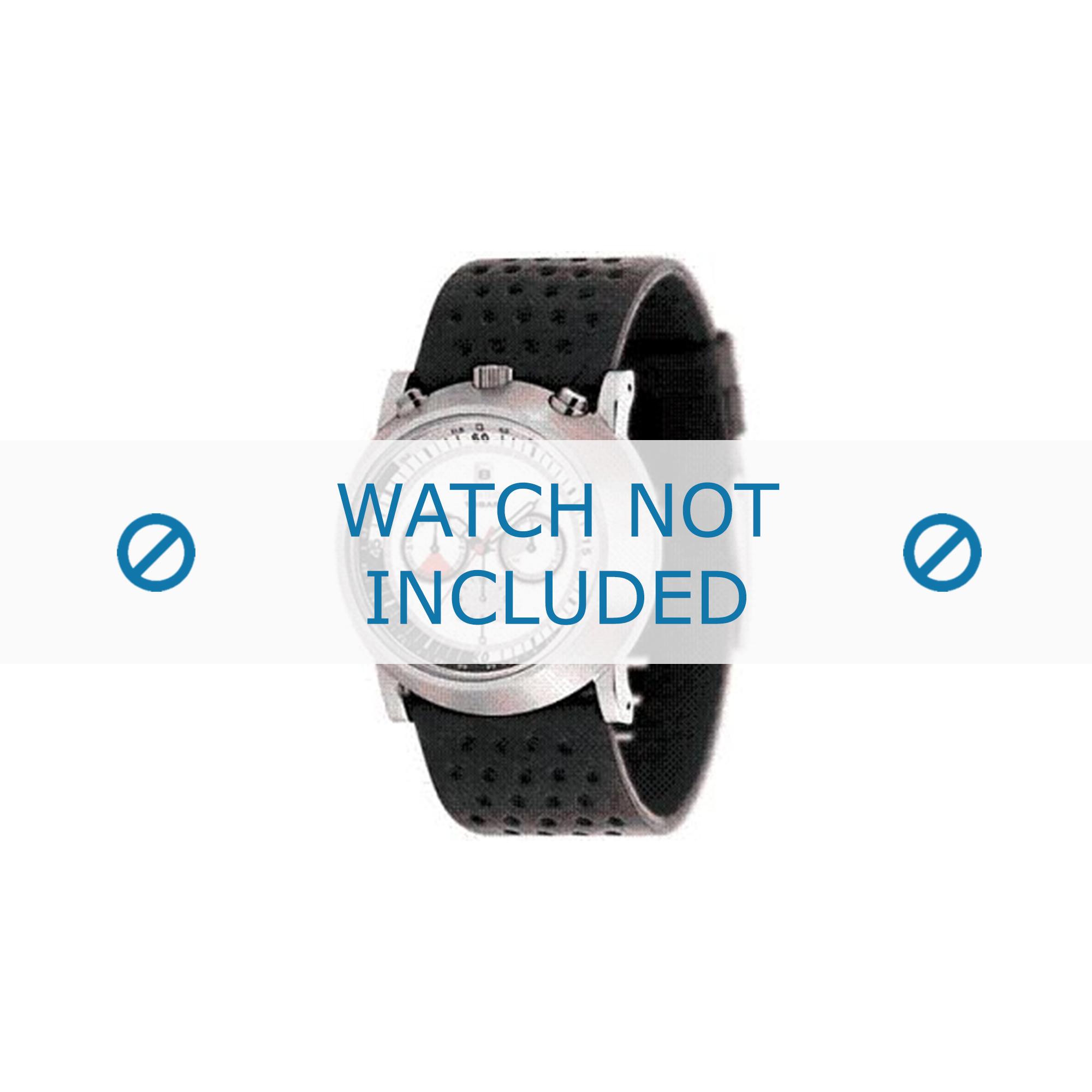 Diesel horlogeband DZ4017 Leder Zwart 28mm