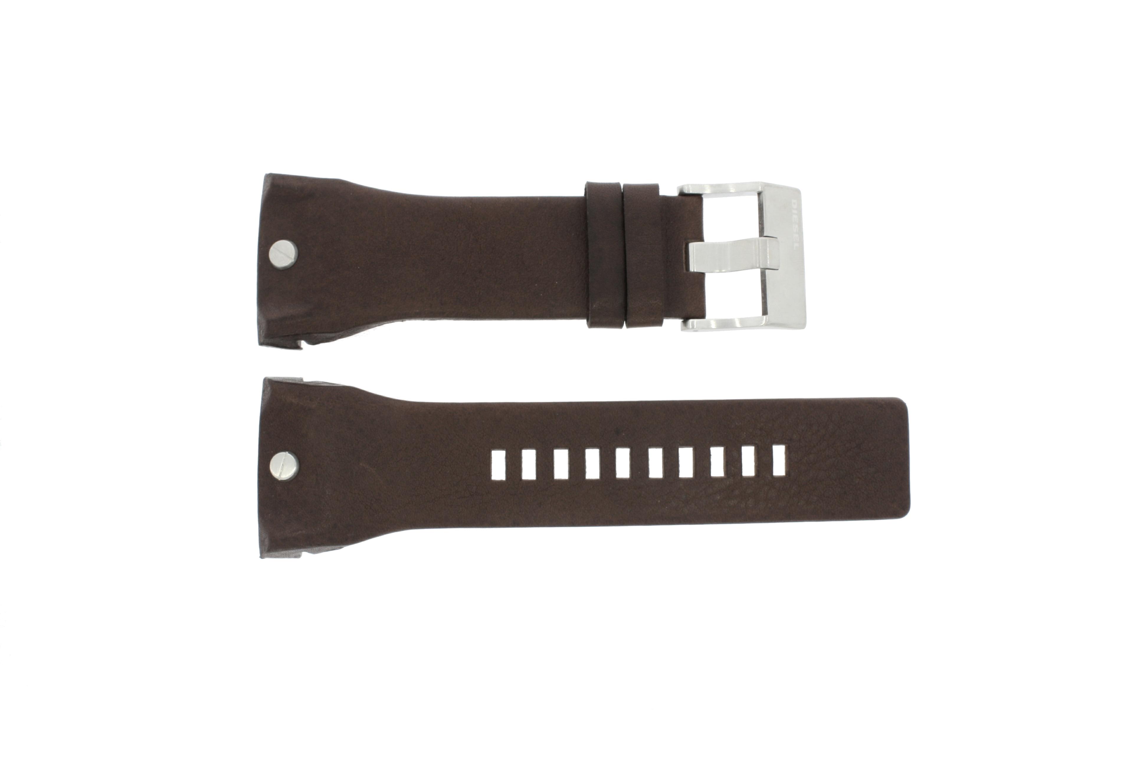 Diesel horlogeband DZ-4184 Leder Bruin 32mm