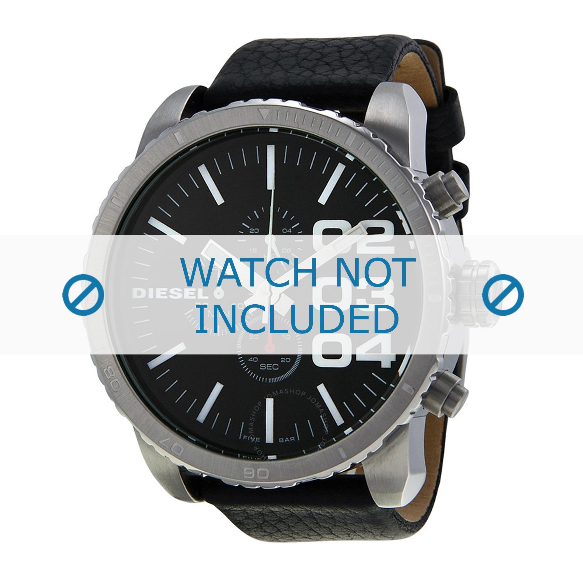Diesel horlogeband DZ4208 Leder Zwart 26mm