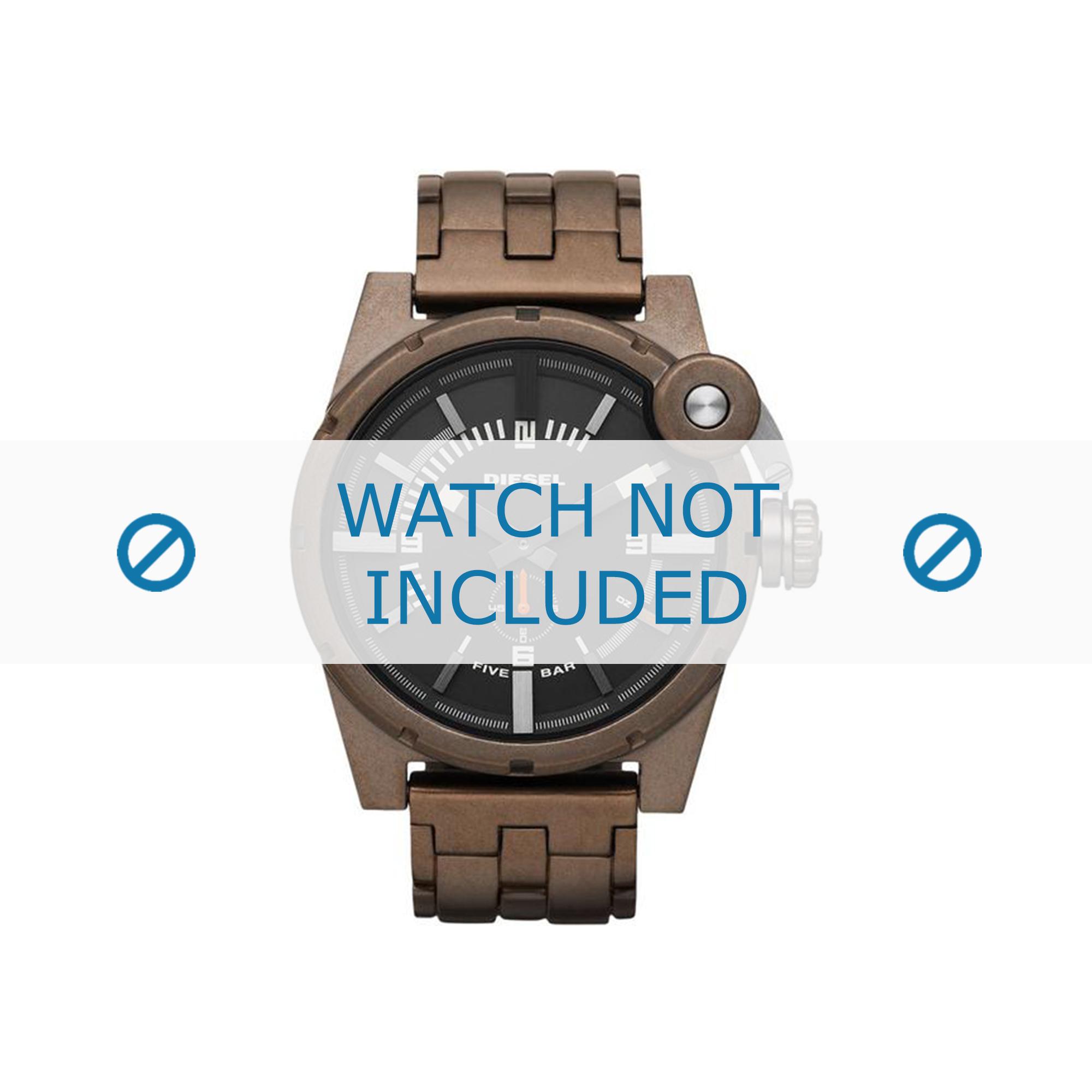 Diesel horlogeband DZ4236 Roestvrij staal (RVS) Bruin 24mm