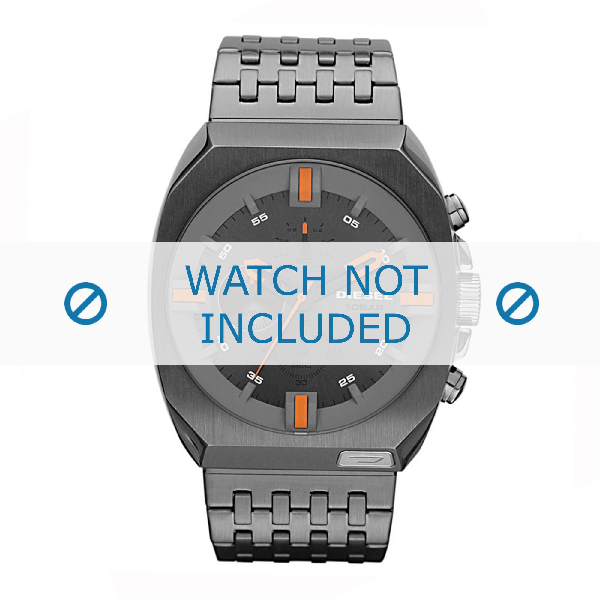 Diesel horlogeband DZ4264 Roestvrij staal (RVS) Zilver 27mm