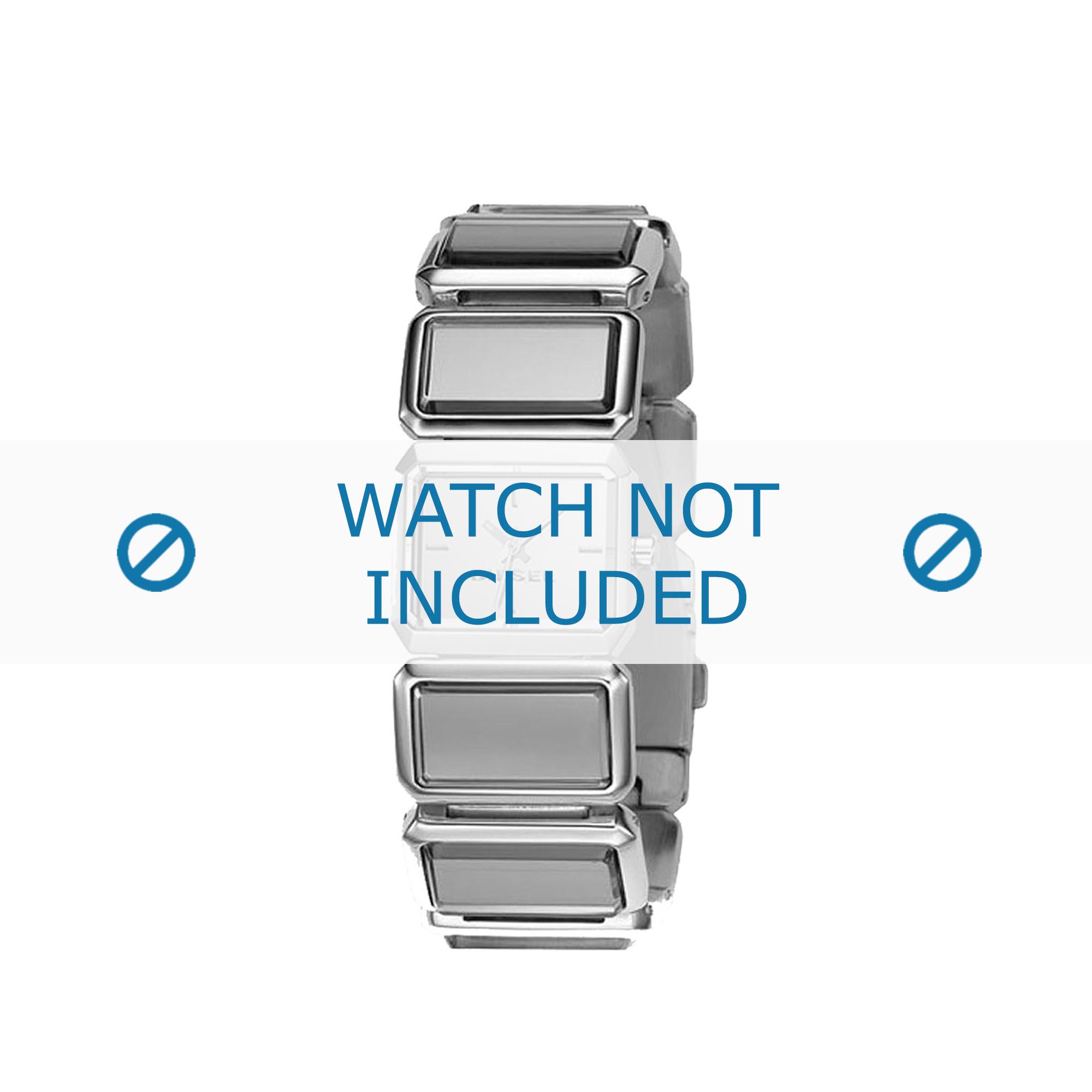 Diesel horlogeband DZ5157 Roestvrij staal (RVS) Zilver 25mm