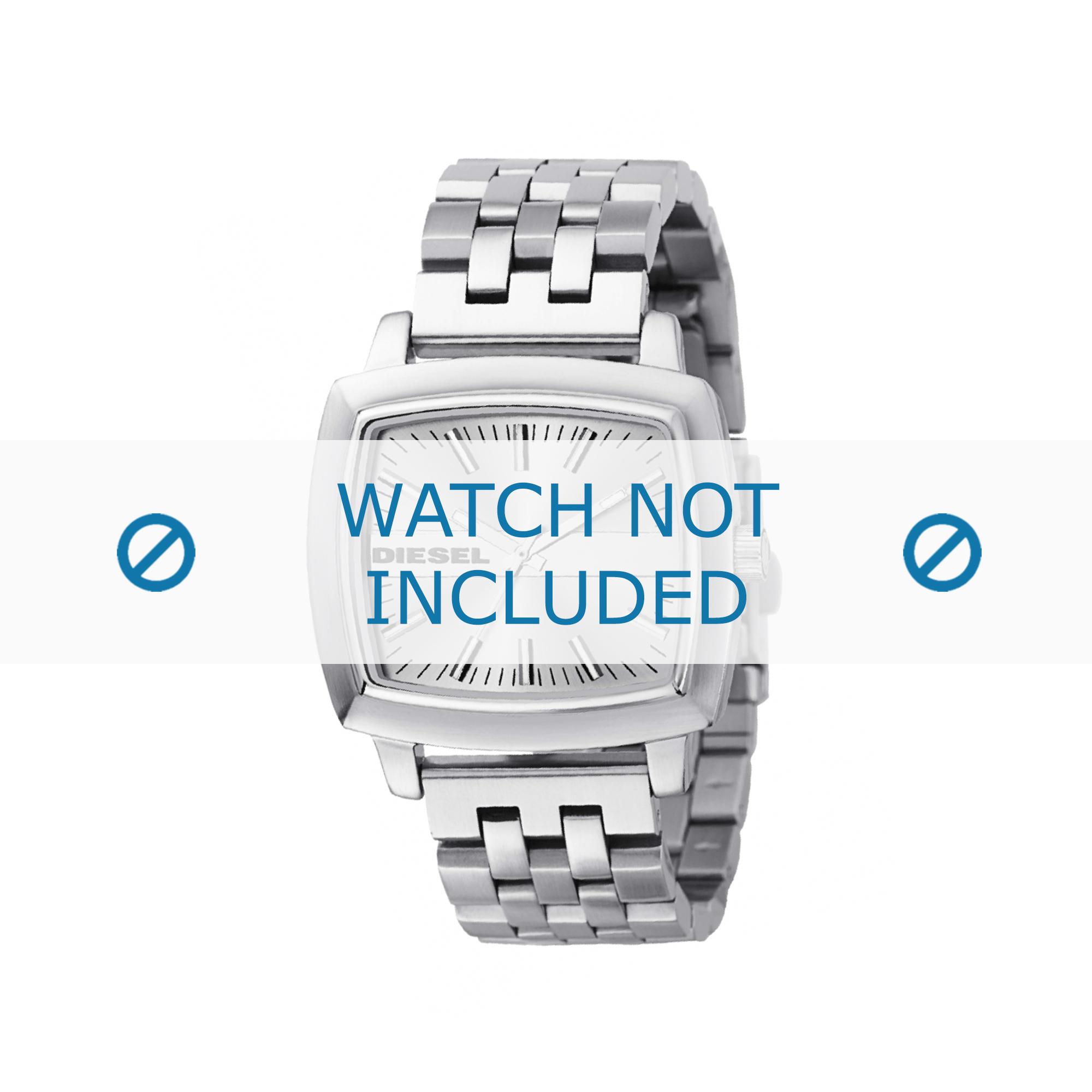 Diesel horlogeband DZ5191 Roestvrij staal (RVS) Zilver 20mm