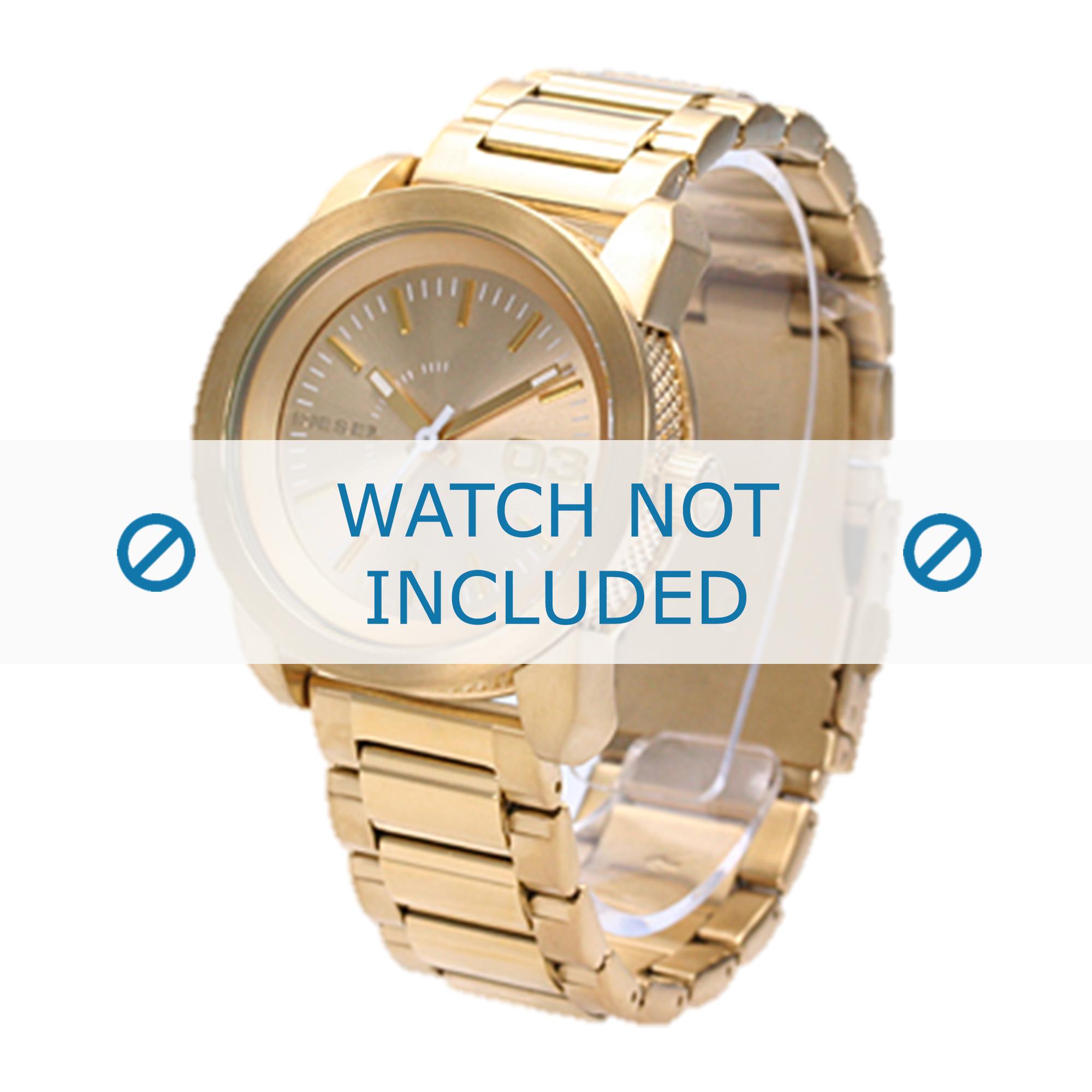 Diesel horlogeband DZ5234 Roestvrij staal (RVS) Goud 20mm