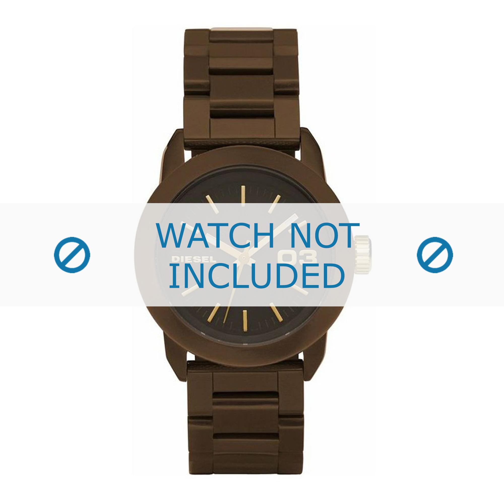 Diesel horlogeband DZ5261 Roestvrij staal (RVS) Bruin 20mm