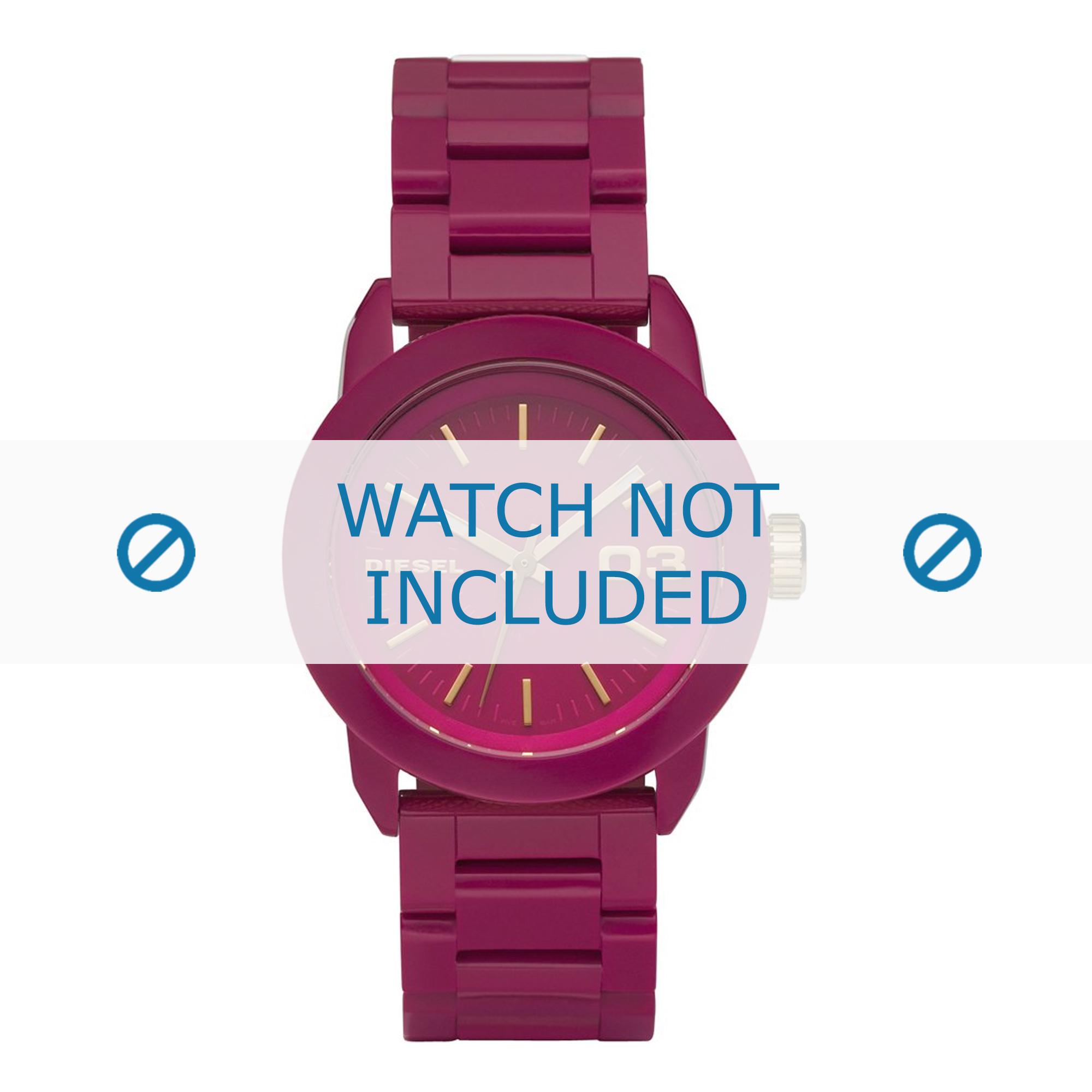 Diesel horlogeband DZ5265 Staal Roze 20mm