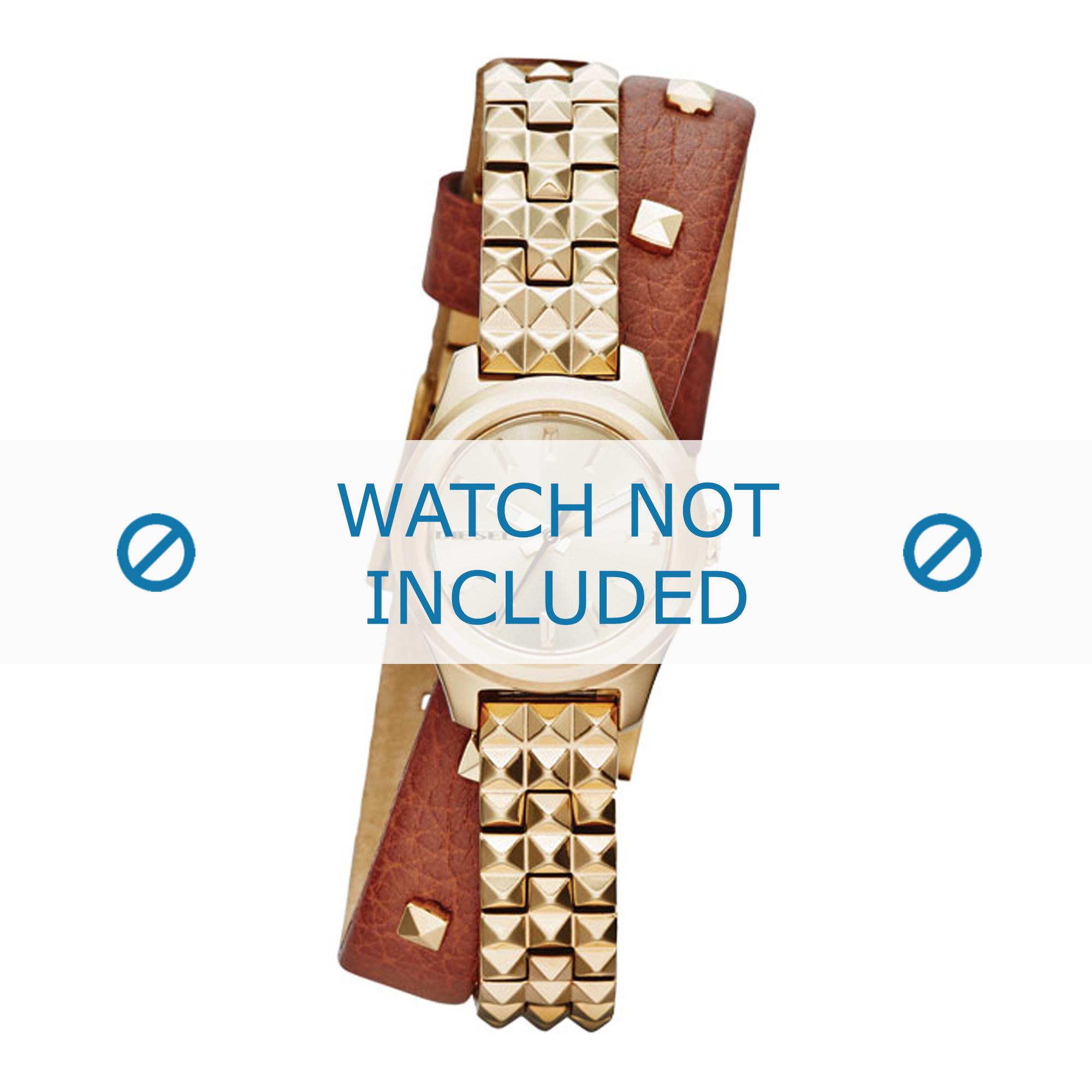 Diesel horlogeband DZ5414 Leder Bruin 10mm