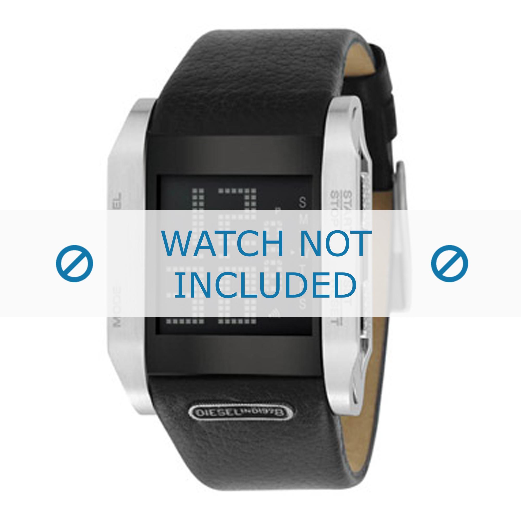 Diesel horlogeband DZ7076 Leder Zwart