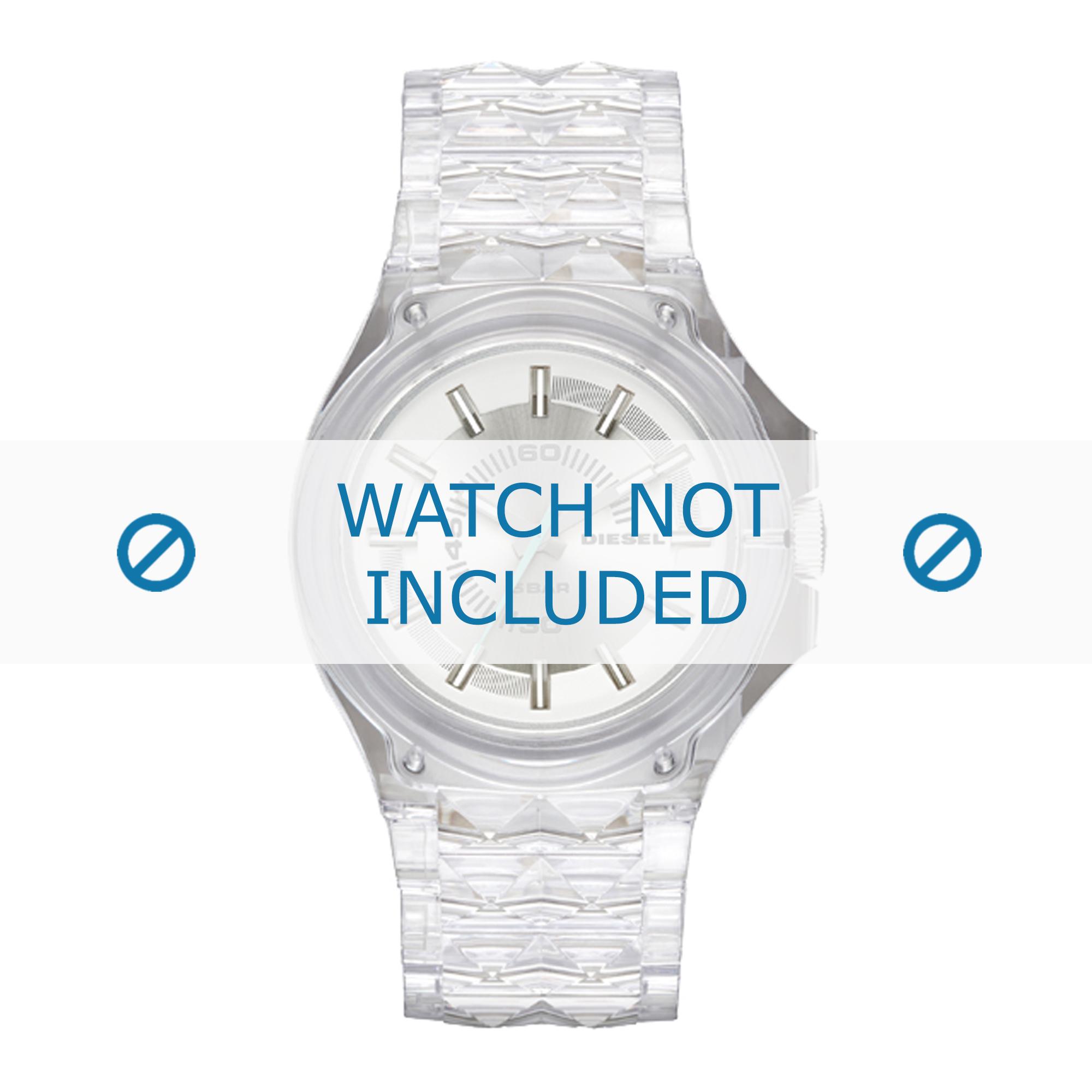 Diesel horlogeband DZ1709 Kunststof / Plastic Transparant 26mm