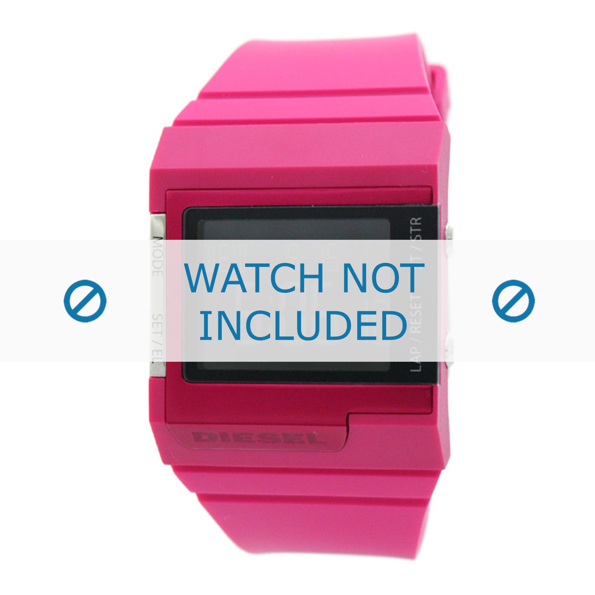 Diesel horlogeband DZ7133 Silicoon Roze 23mm