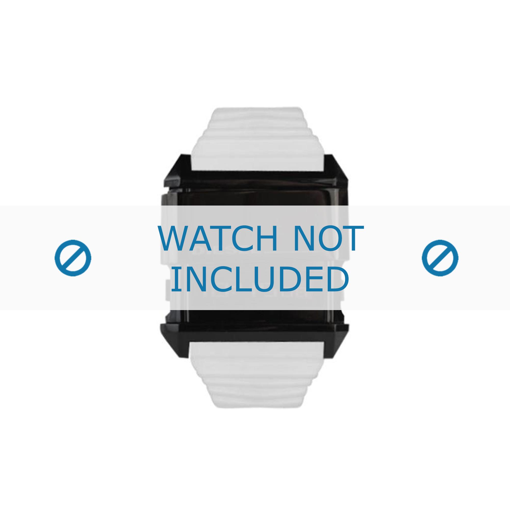 Diesel horlogeband DZ7201 Silicoon Wit 30mm