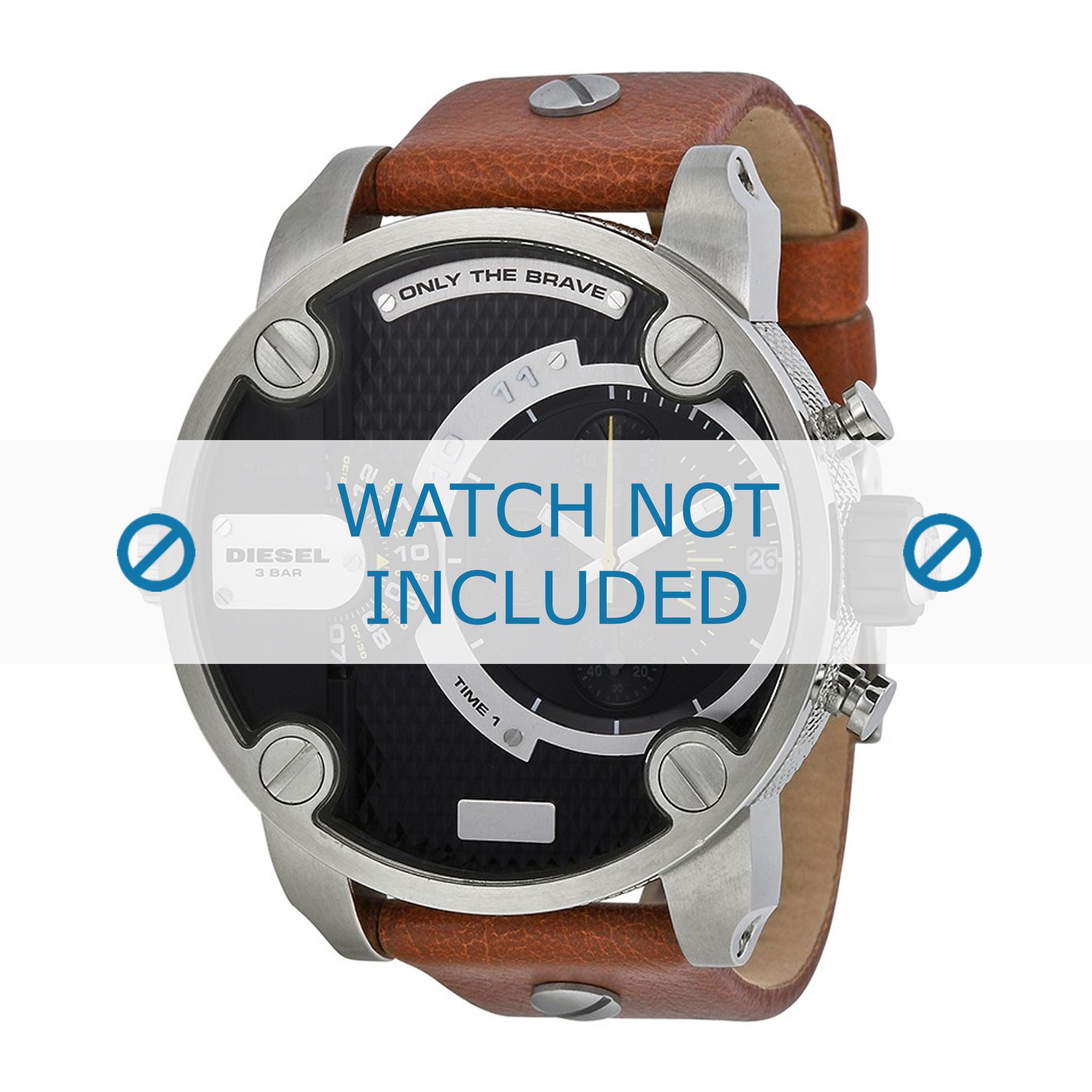 Diesel horlogeband DZ-7264 Leder Bruin 24mm