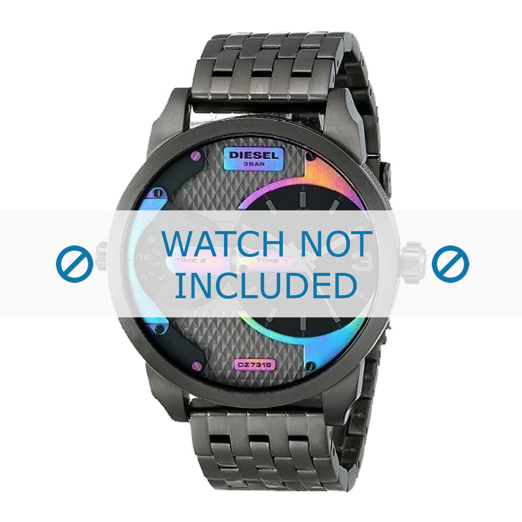 Diesel horlogeband DZ7319 Roestvrij staal (RVS) Grijs 22mm