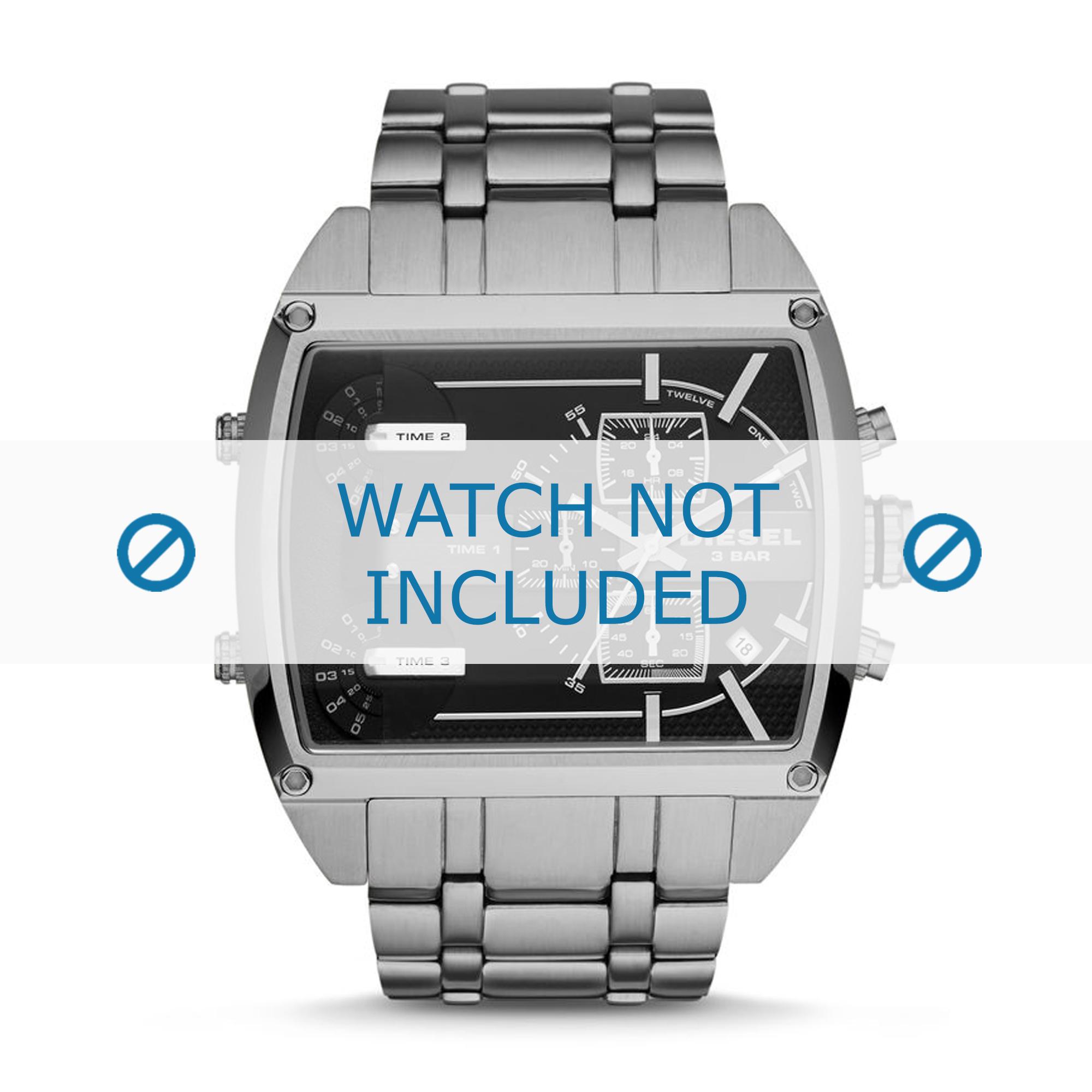 Diesel horlogeband DZ7324 Roestvrij staal (RVS) Zilver 30mm