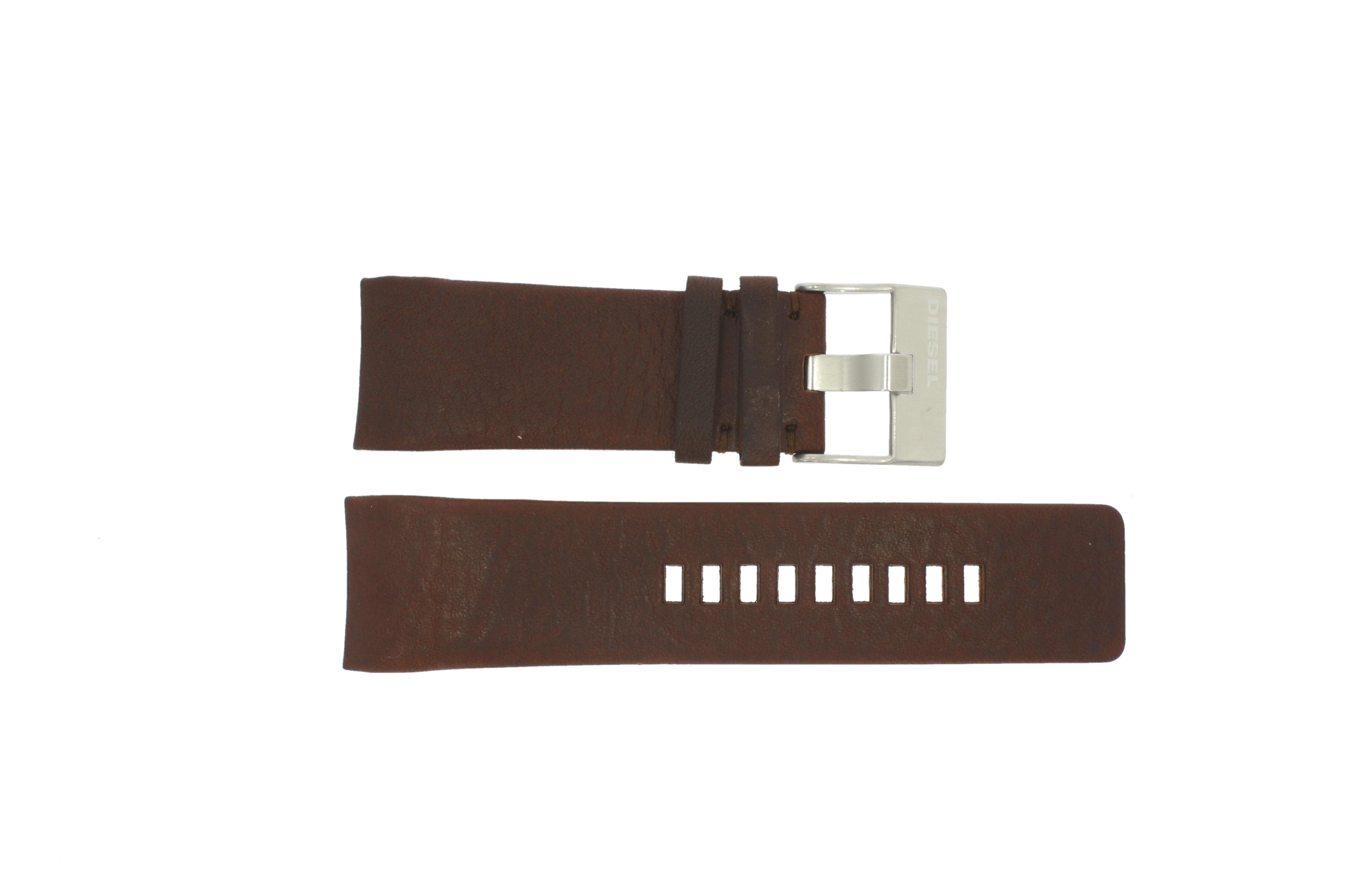 Diesel horlogeband DZ-4029 / DZ-4033 Leder Bruin 28mm