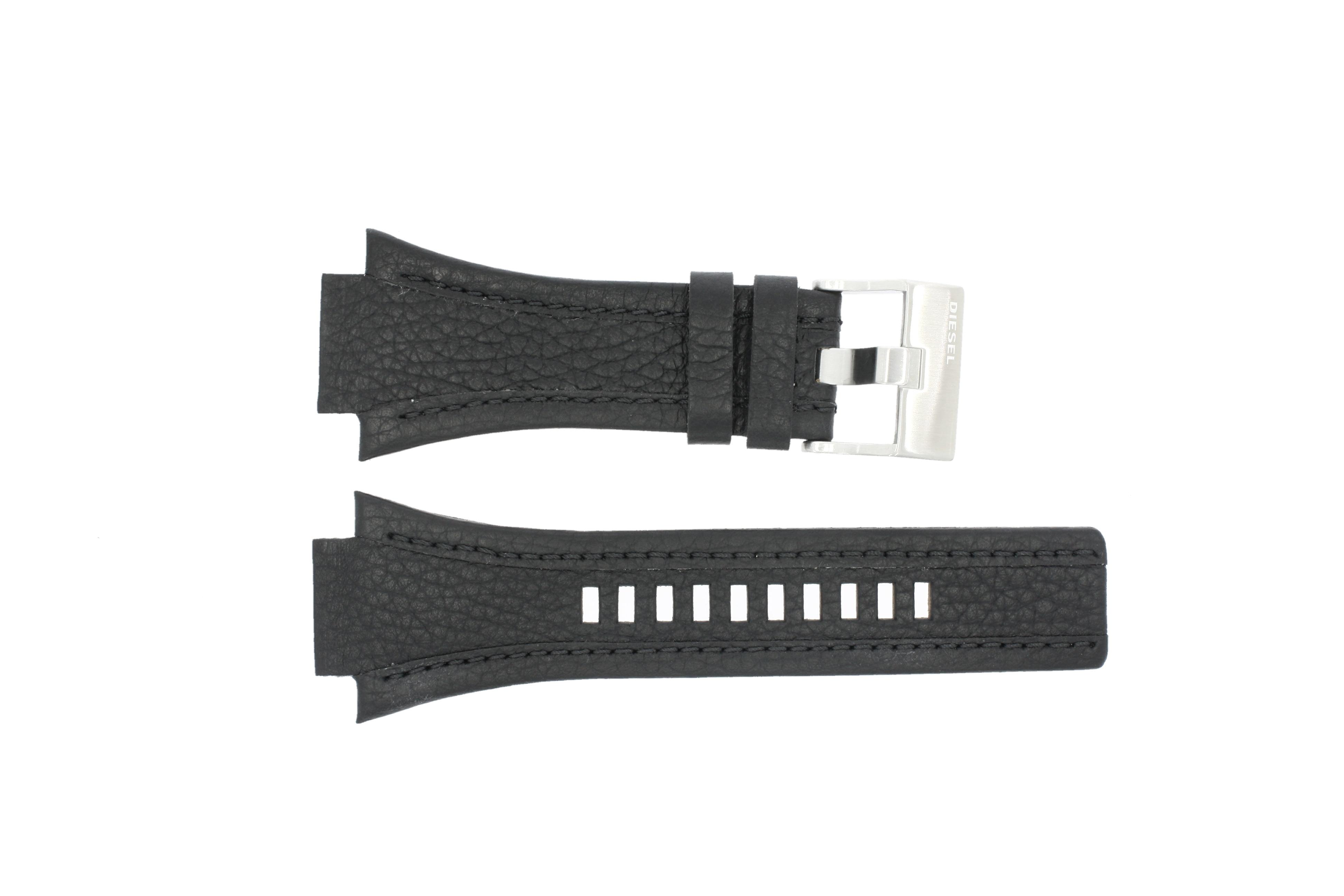 Diesel horlogeband DZ-4172 Leder Zwart 27mm
