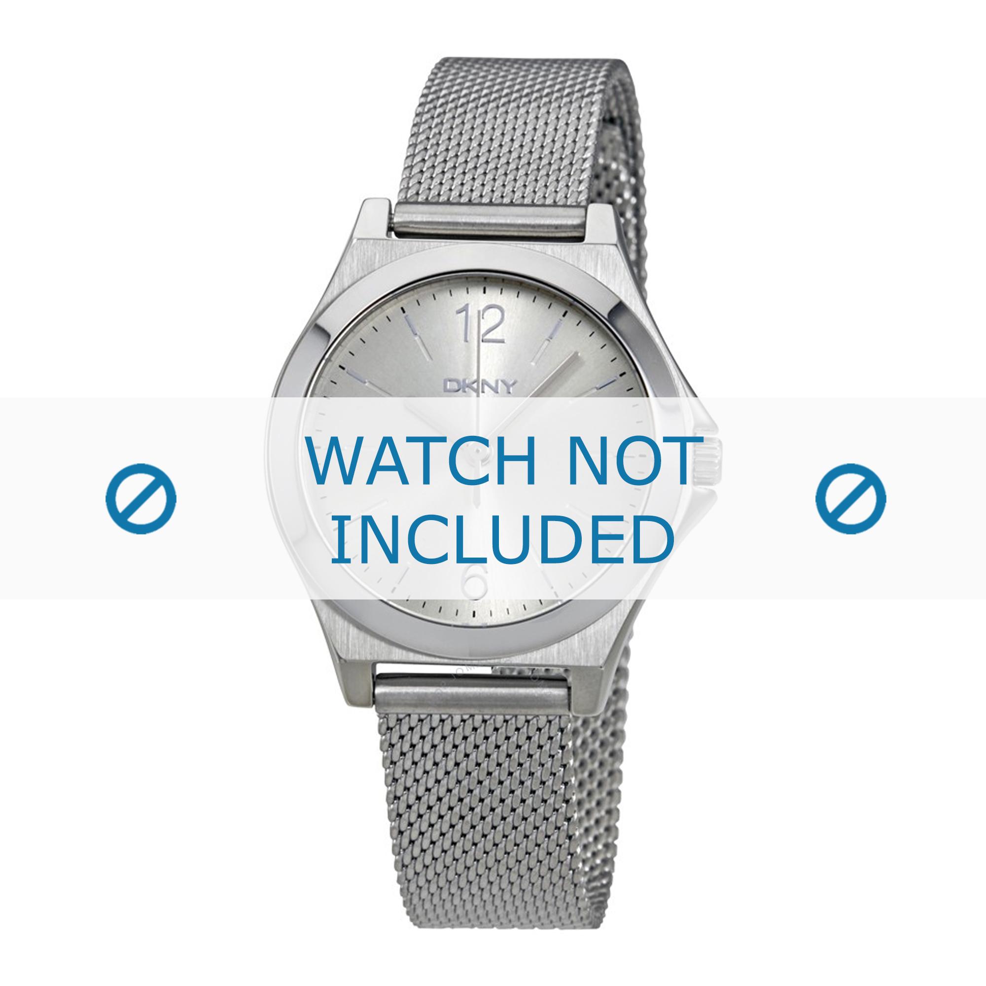 DKNY horlogeband NY2488 Staal Zilver 8mm