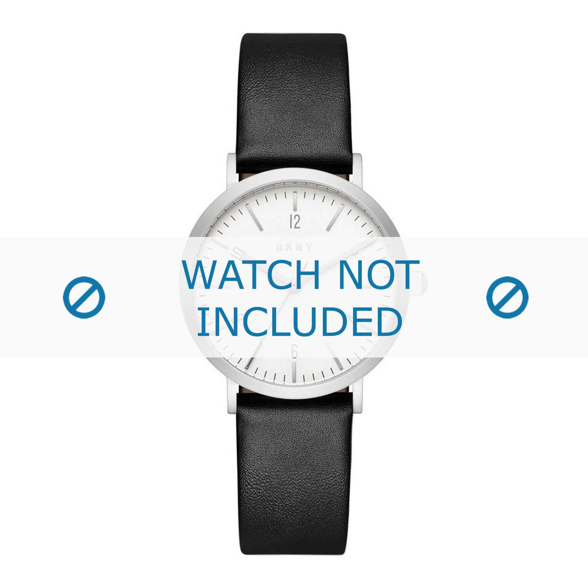 DKNY horlogeband NY2506 Leder Zwart 18mm