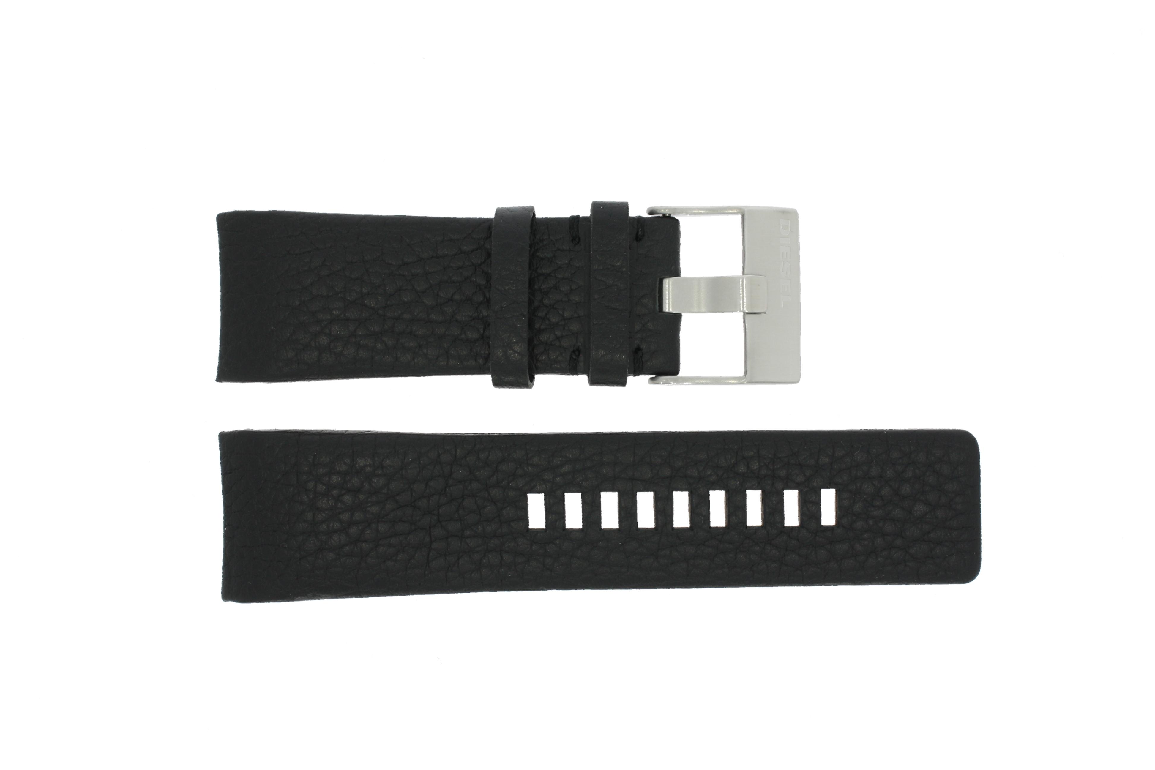 Diesel horlogeband DZ-4031 / DZ4032 / DZ 4028 Leder Zwart 29mm