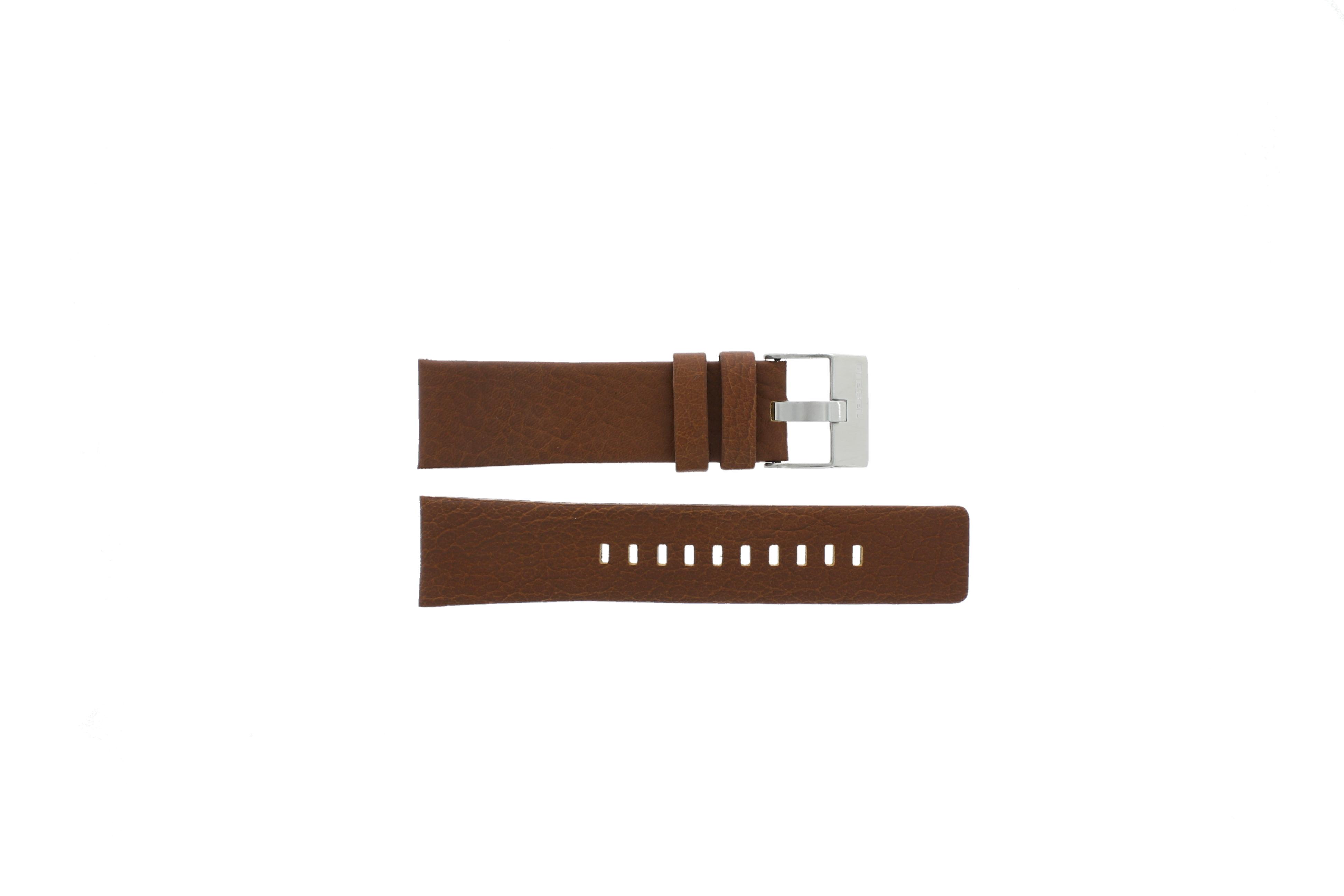 Diesel horlogeband DZ-4296 Leder Cognac 24mm