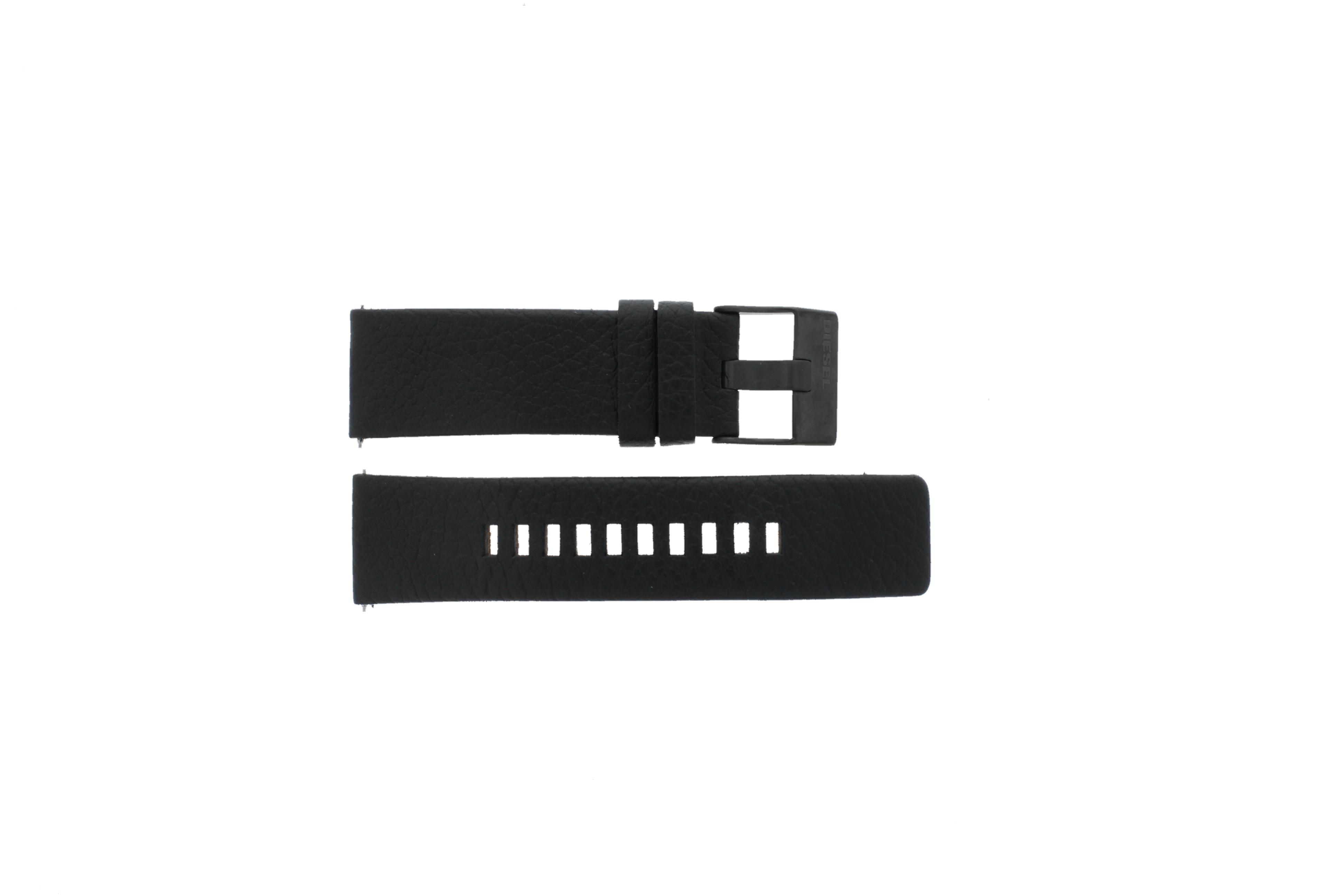 Diesel horlogeband DZ-4323 Leder Zwart 24mm
