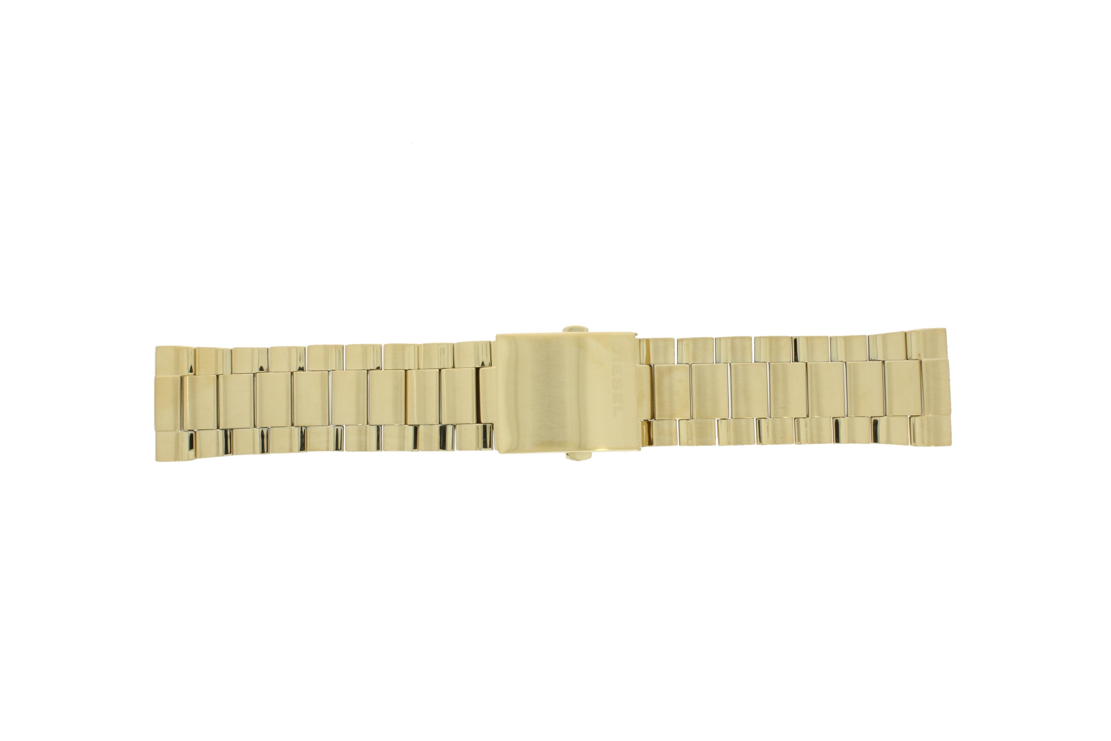 Diesel horlogeband DZ4360 Staal Goud 24mm