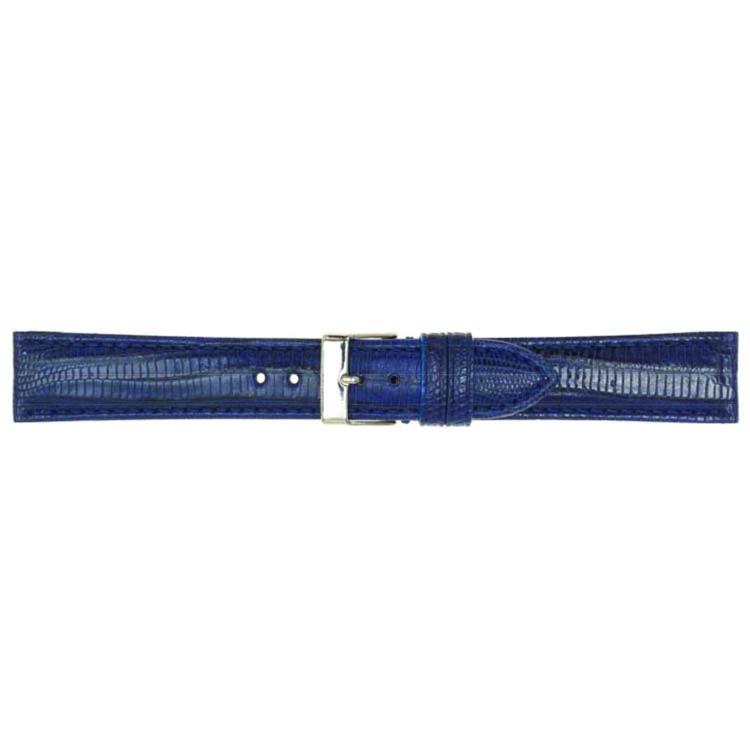 Donkerblauw lederen horlogeband 18mm PVK-564