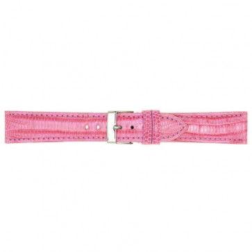 Roze lederen horlogeband 18mm PVK-564